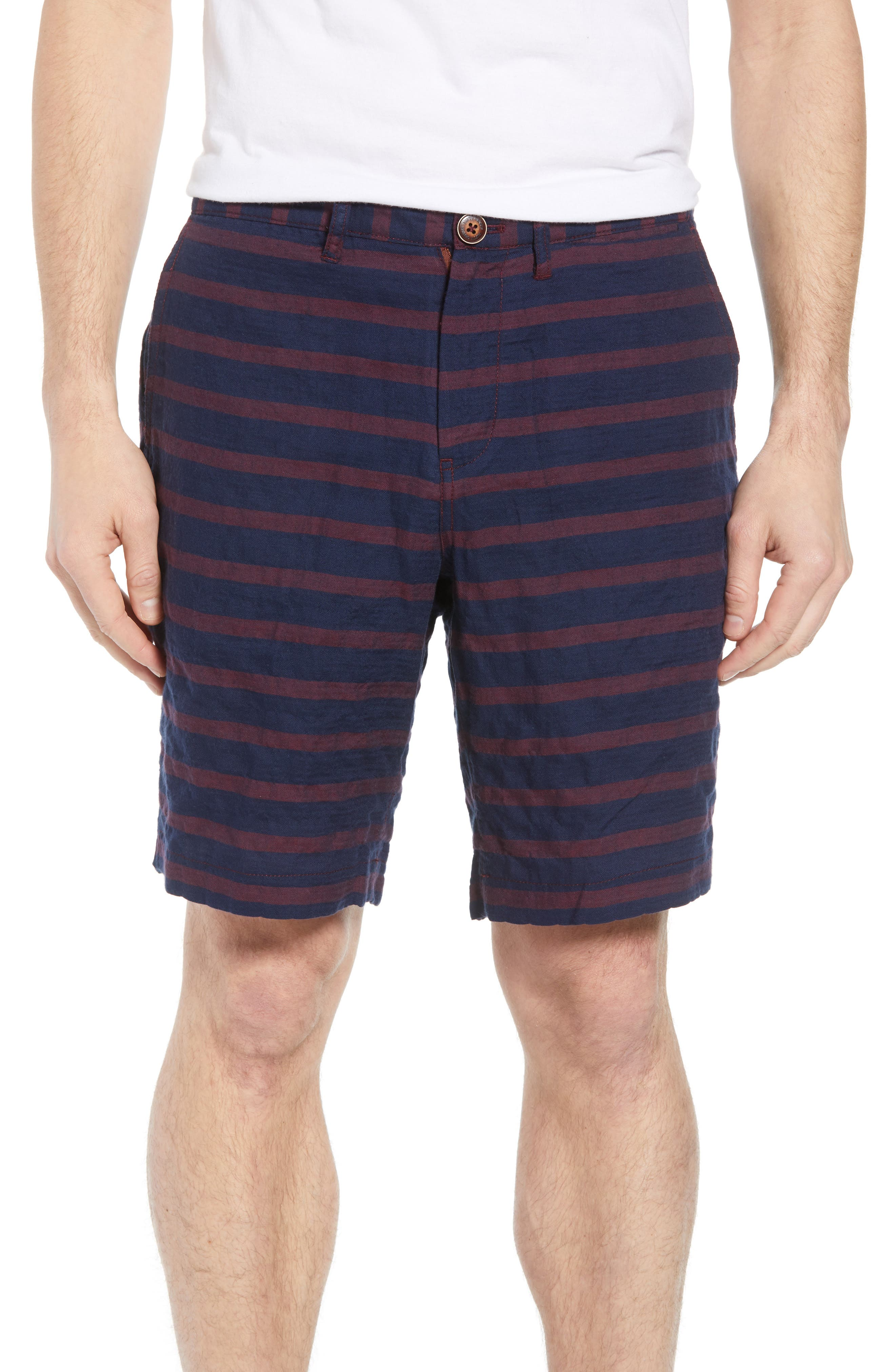 Morgan Stripe Bermuda Shorts,                             Main thumbnail 1, color,                             601