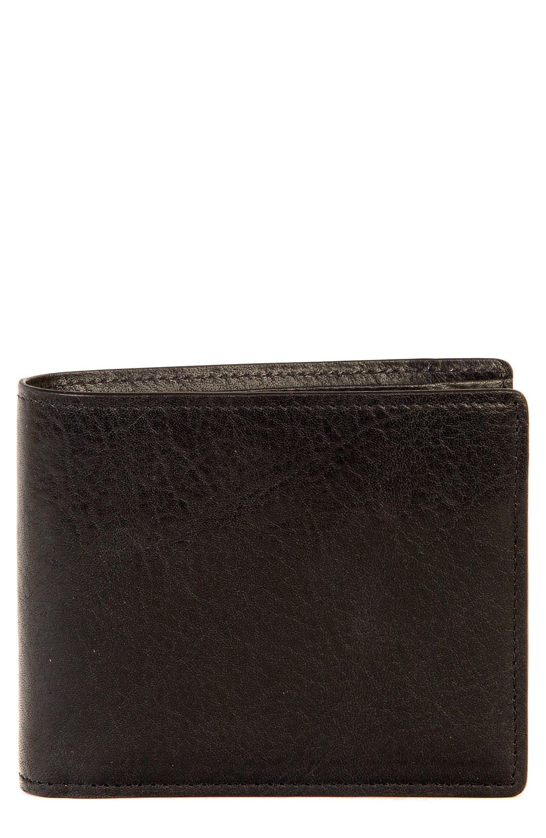 'Becker' RFID Leather Wallet,                             Main thumbnail 1, color,                             001
