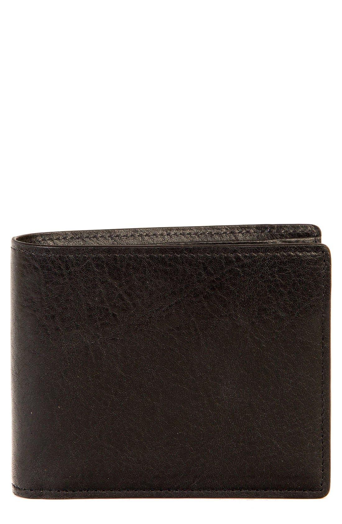 BOCONI,                             'Becker' RFID Leather Wallet,                             Main thumbnail 1, color,                             BLACK