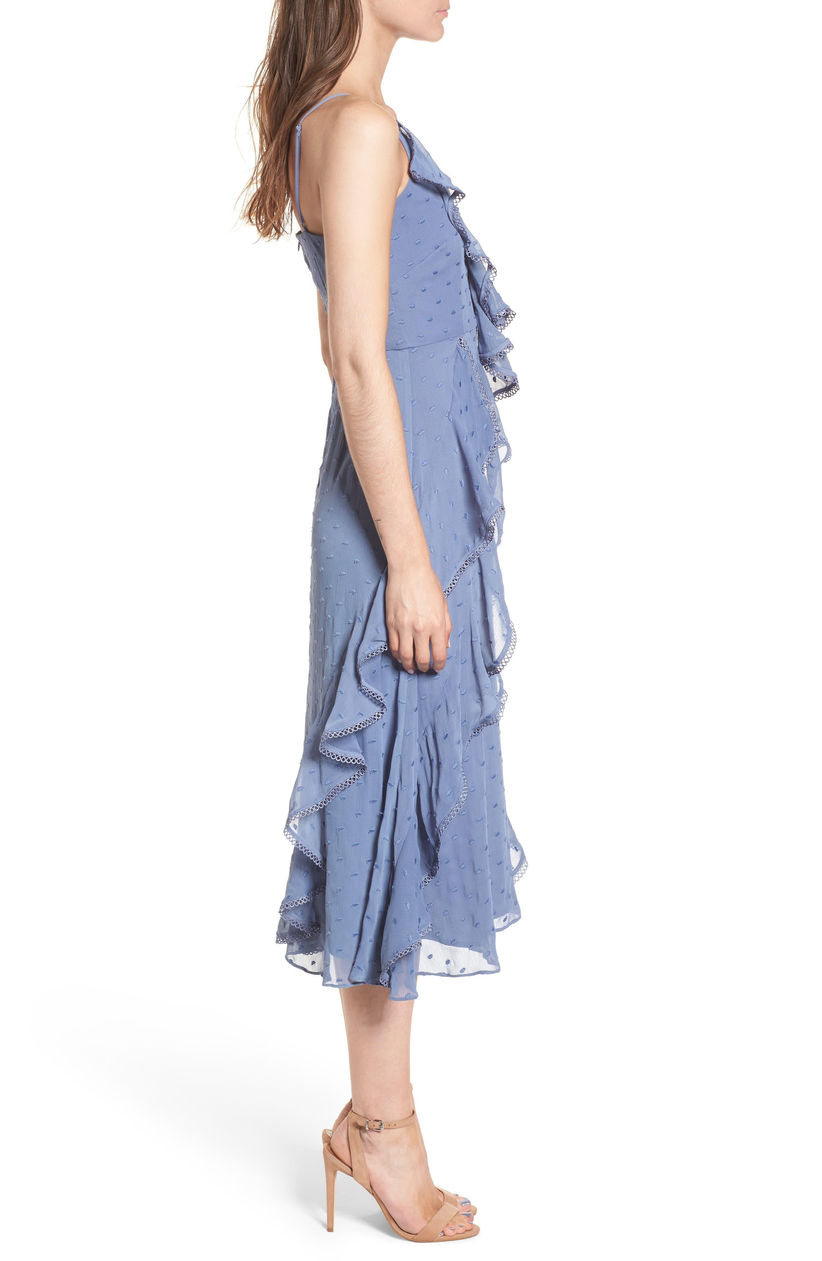 Hideaway Midi Dress,                             Alternate thumbnail 3, color,                             400