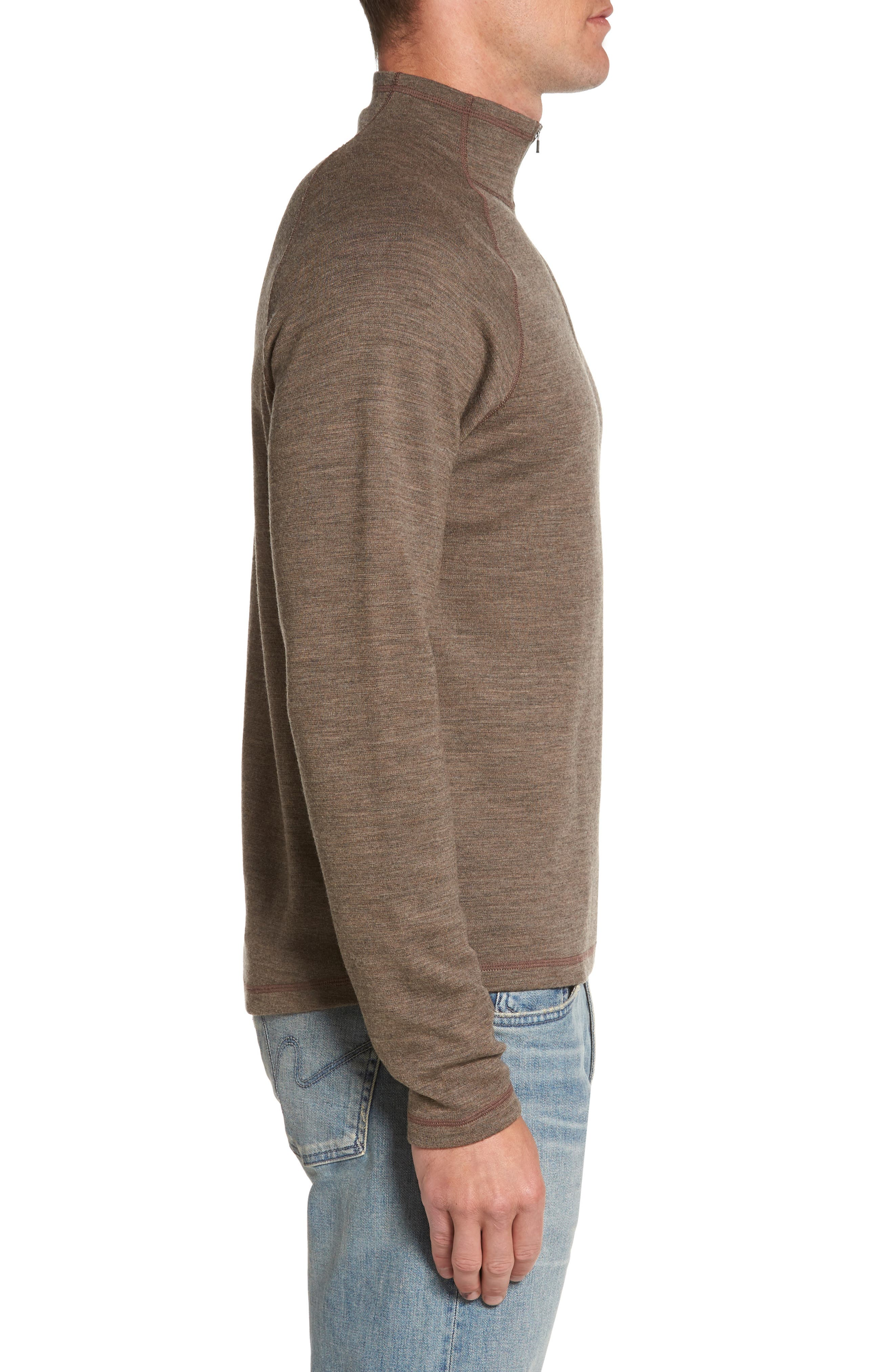 'Shak' Merino Wool Quarter Zip Top,                             Alternate thumbnail 3, color,                             250