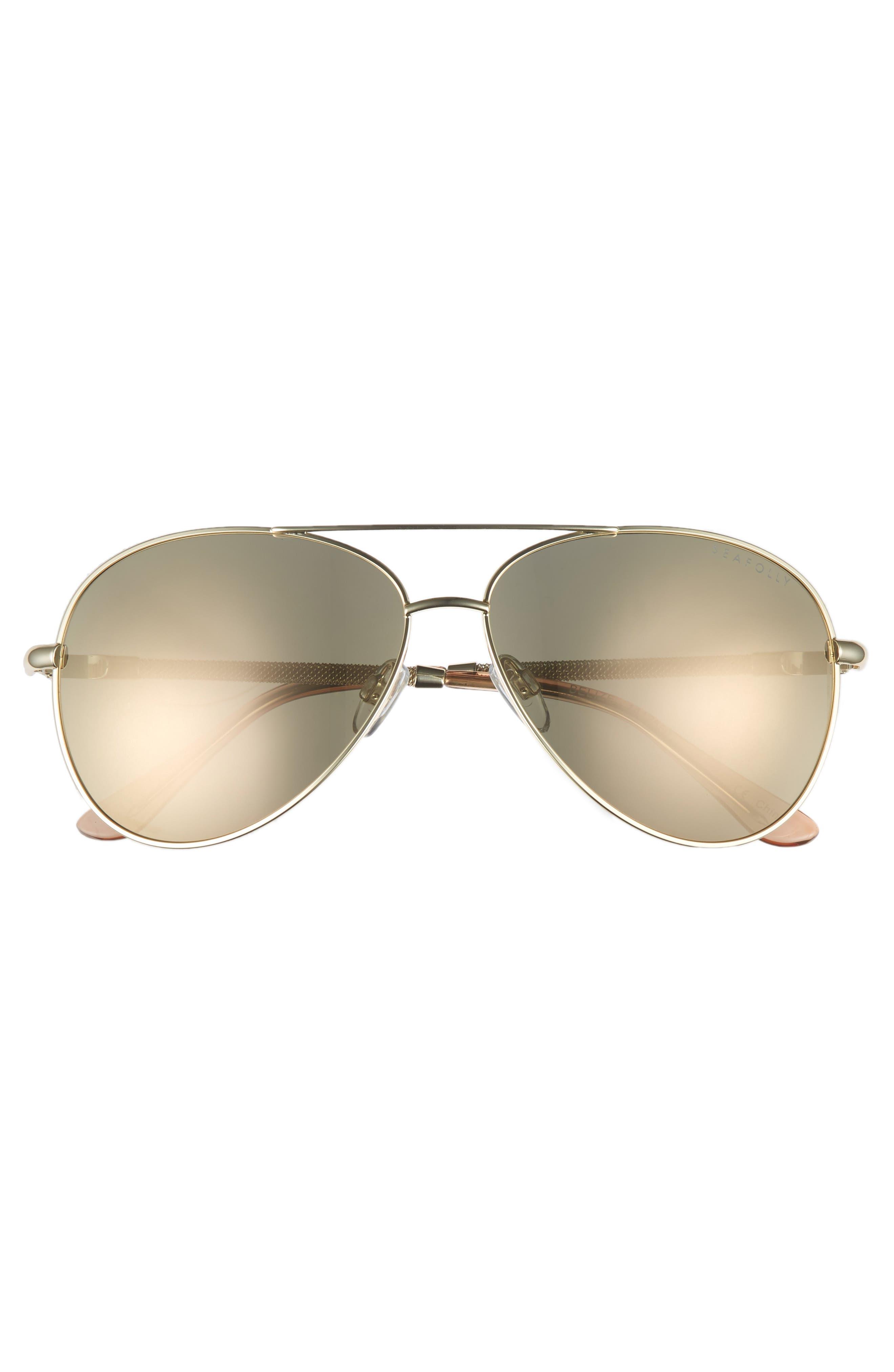 Belize 59mm Aviator Sunglasses,                             Alternate thumbnail 3, color,                             710