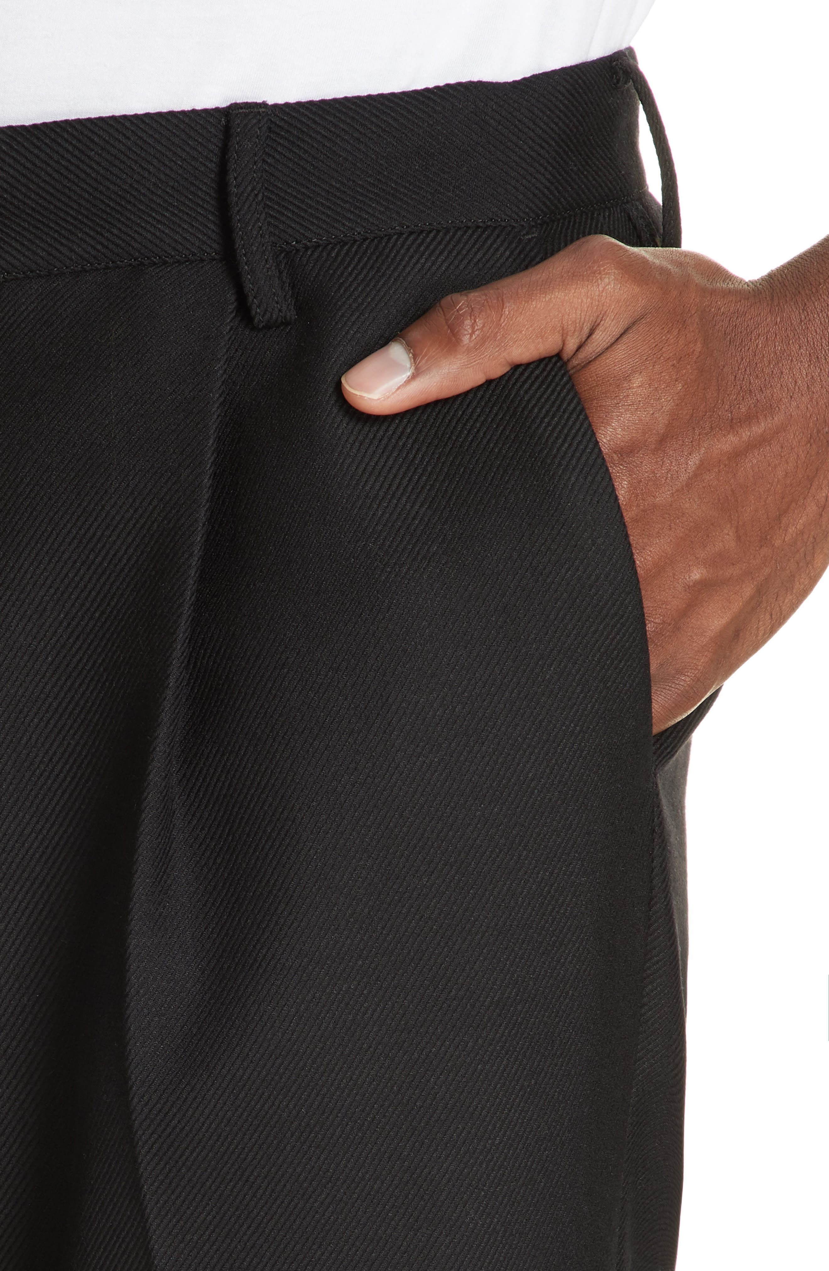 Pleated Pants,                             Alternate thumbnail 4, color,                             BLACK