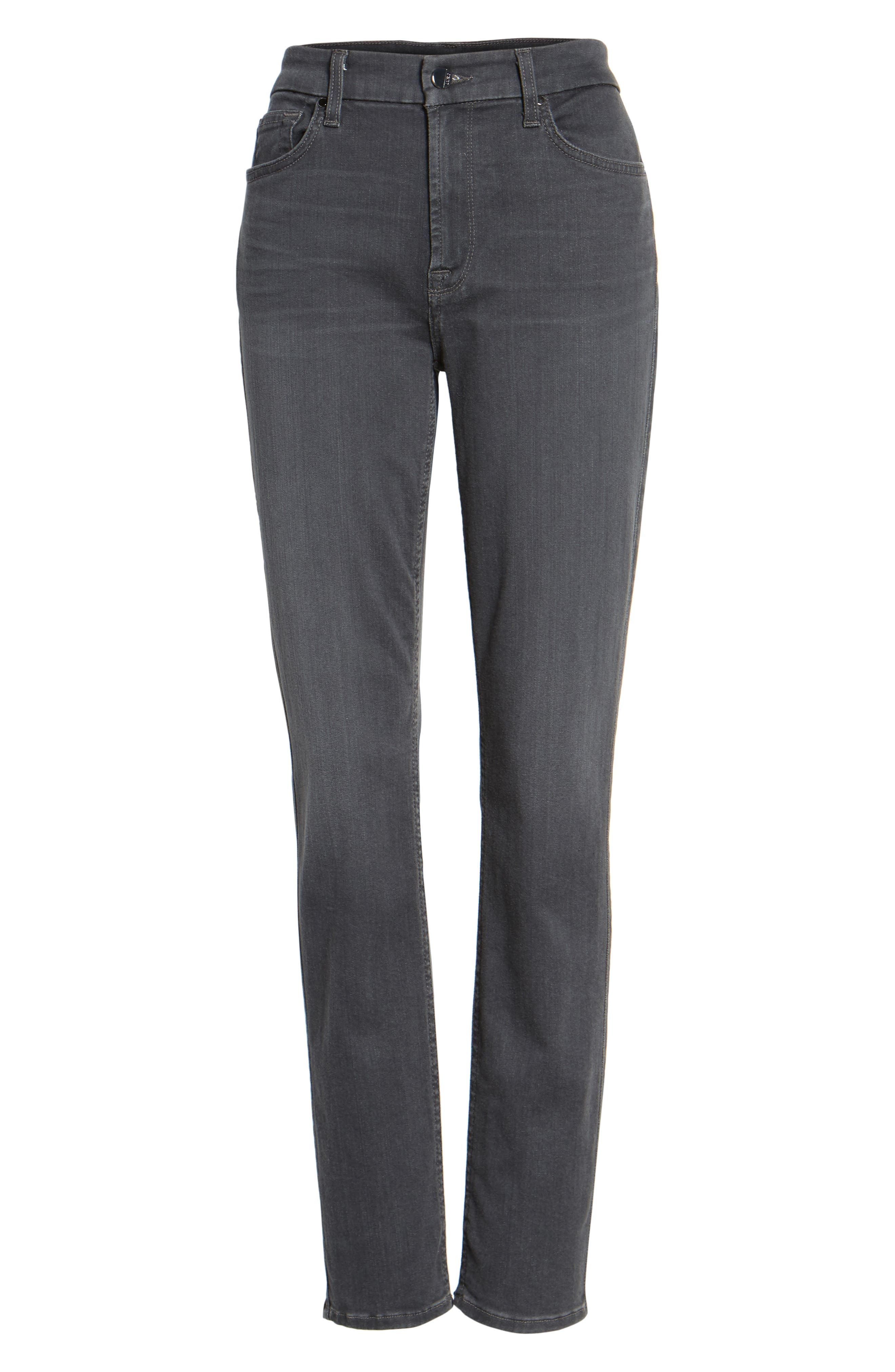 Stretch Skinny Jeans,                             Alternate thumbnail 7, color,                             CLEAN GREY