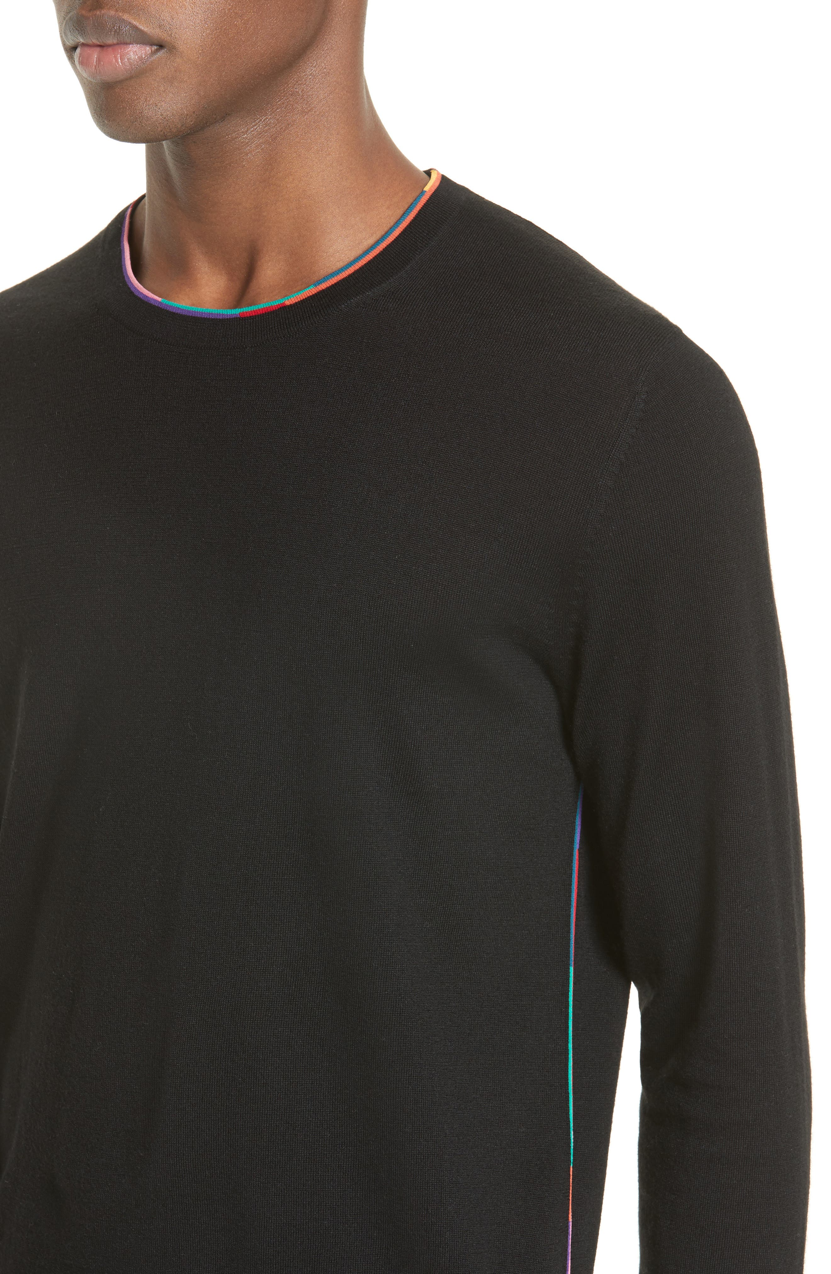 Multicolor Piping Sweater,                             Alternate thumbnail 4, color,                             001
