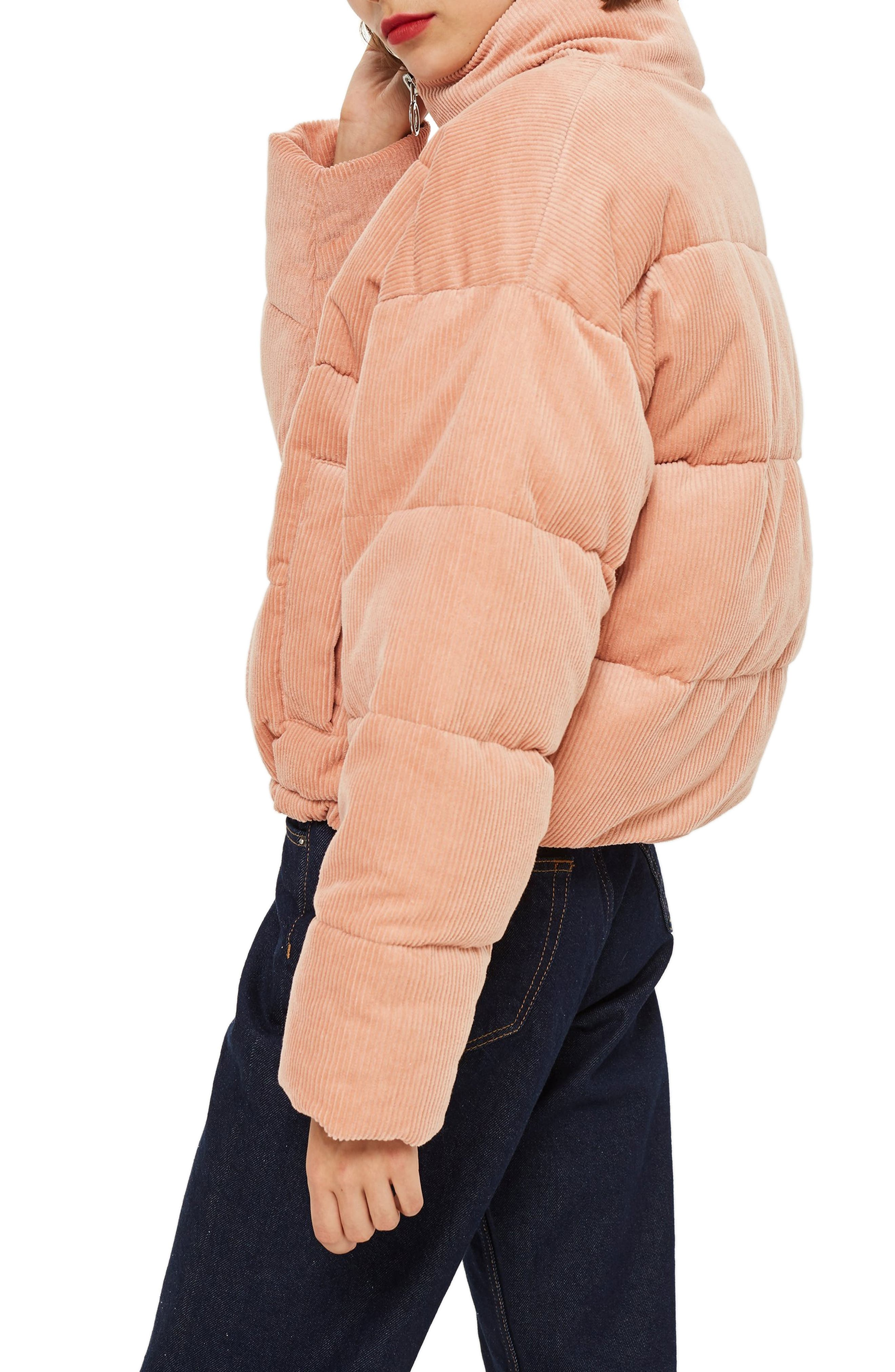 Corduroy Puffer Jacket,                             Alternate thumbnail 3, color,                             650