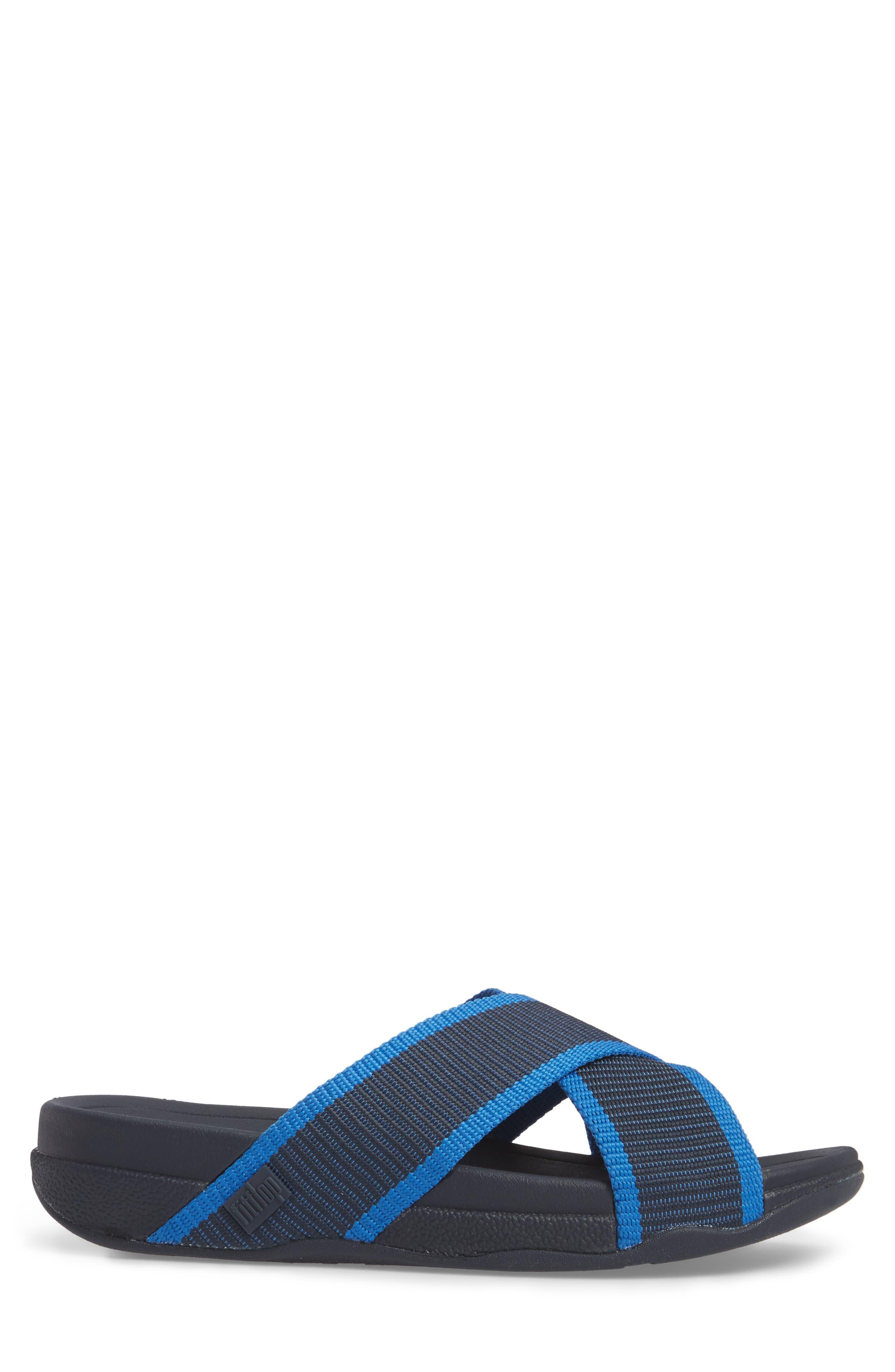 Surfer Slide Sandal,                             Alternate thumbnail 3, color,                             SUPERNAVY BLUE