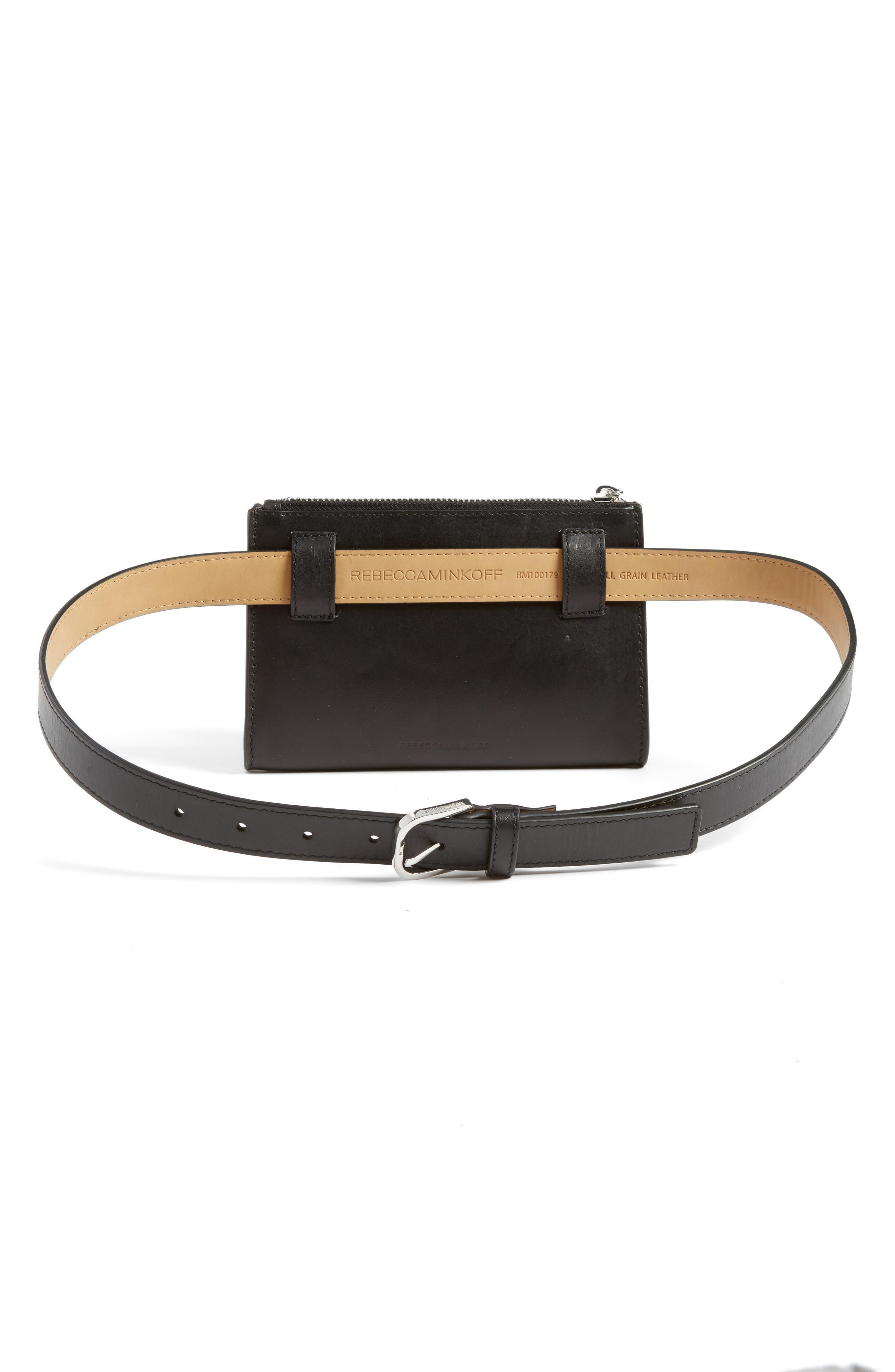 Fringe Belt Bag,                             Alternate thumbnail 4, color,                             001