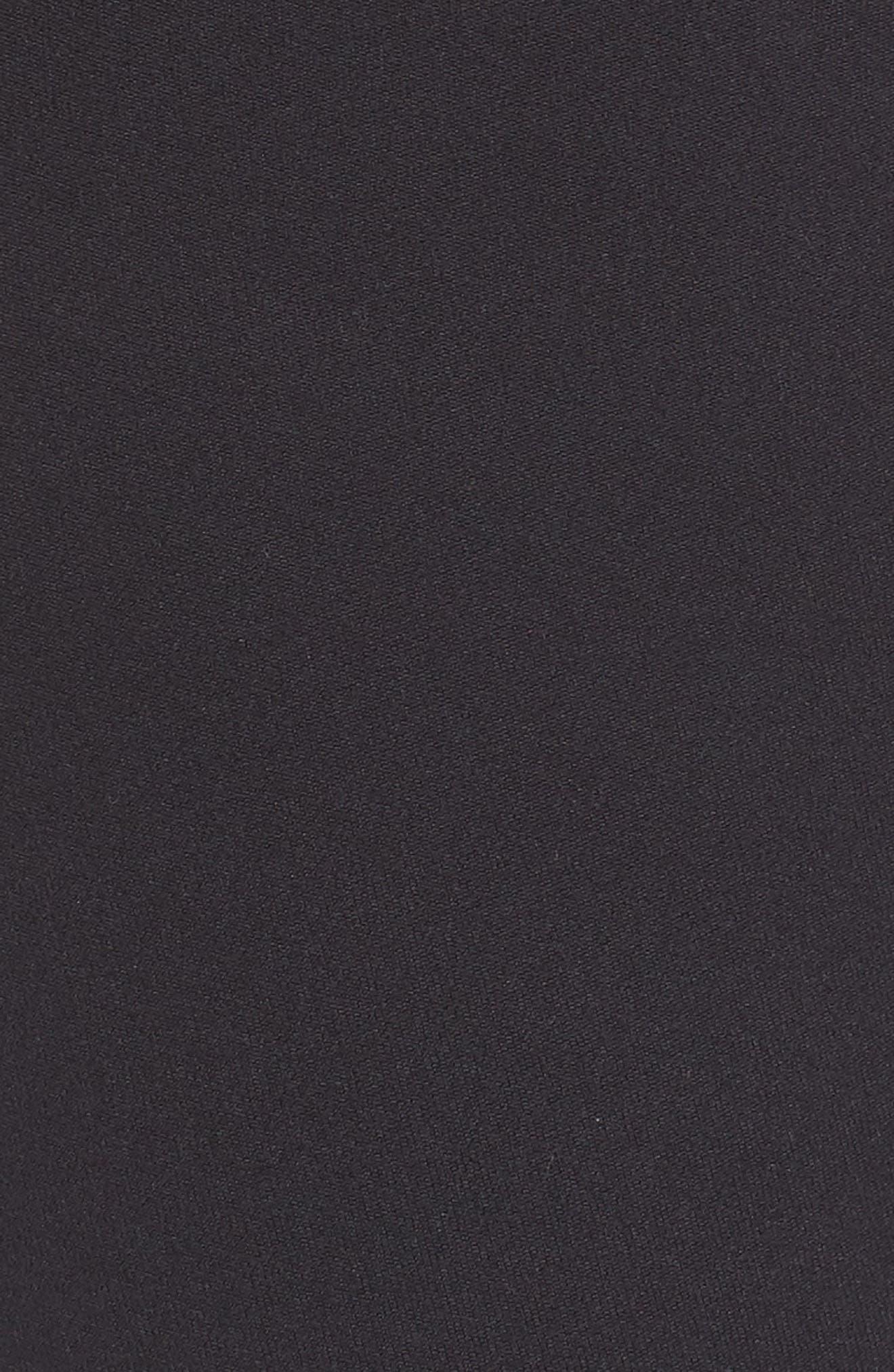 Believe This 3-Stripes High Waist Ankle Leggings,                             Alternate thumbnail 6, color,                             BLACK/ WHITE