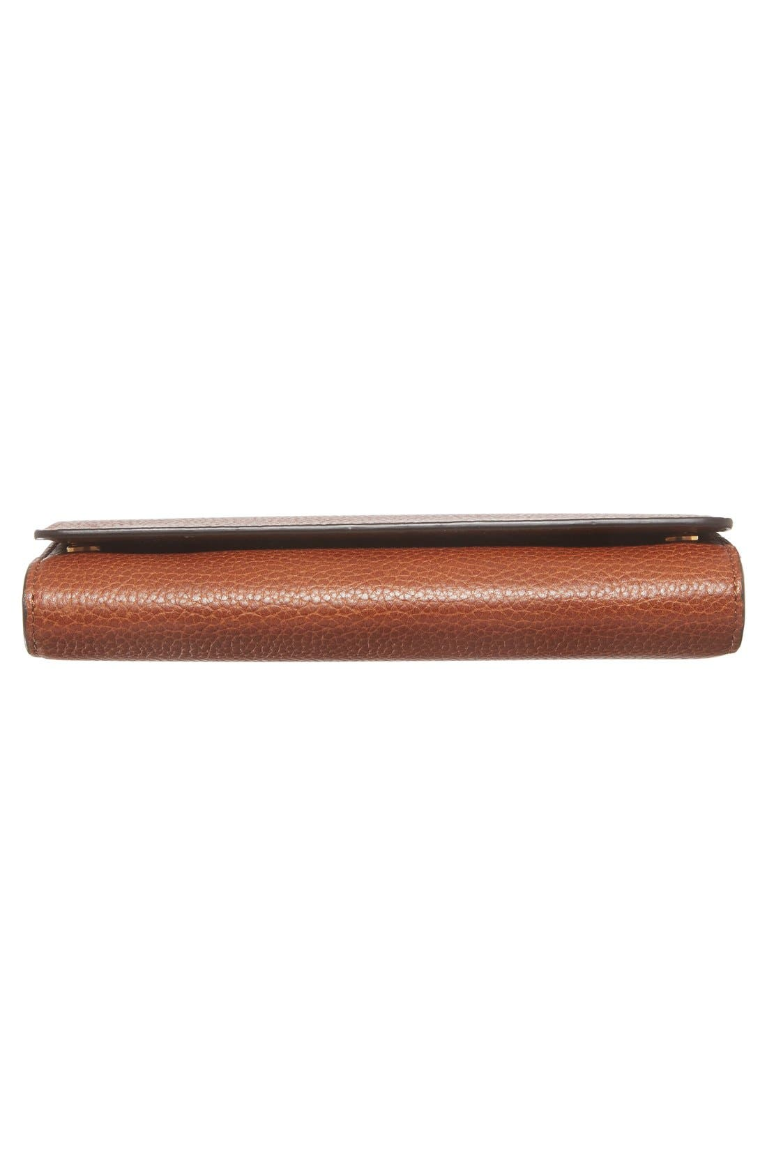 'Continental - Classic' Convertible Leather Clutch,                             Alternate thumbnail 6, color,                             200