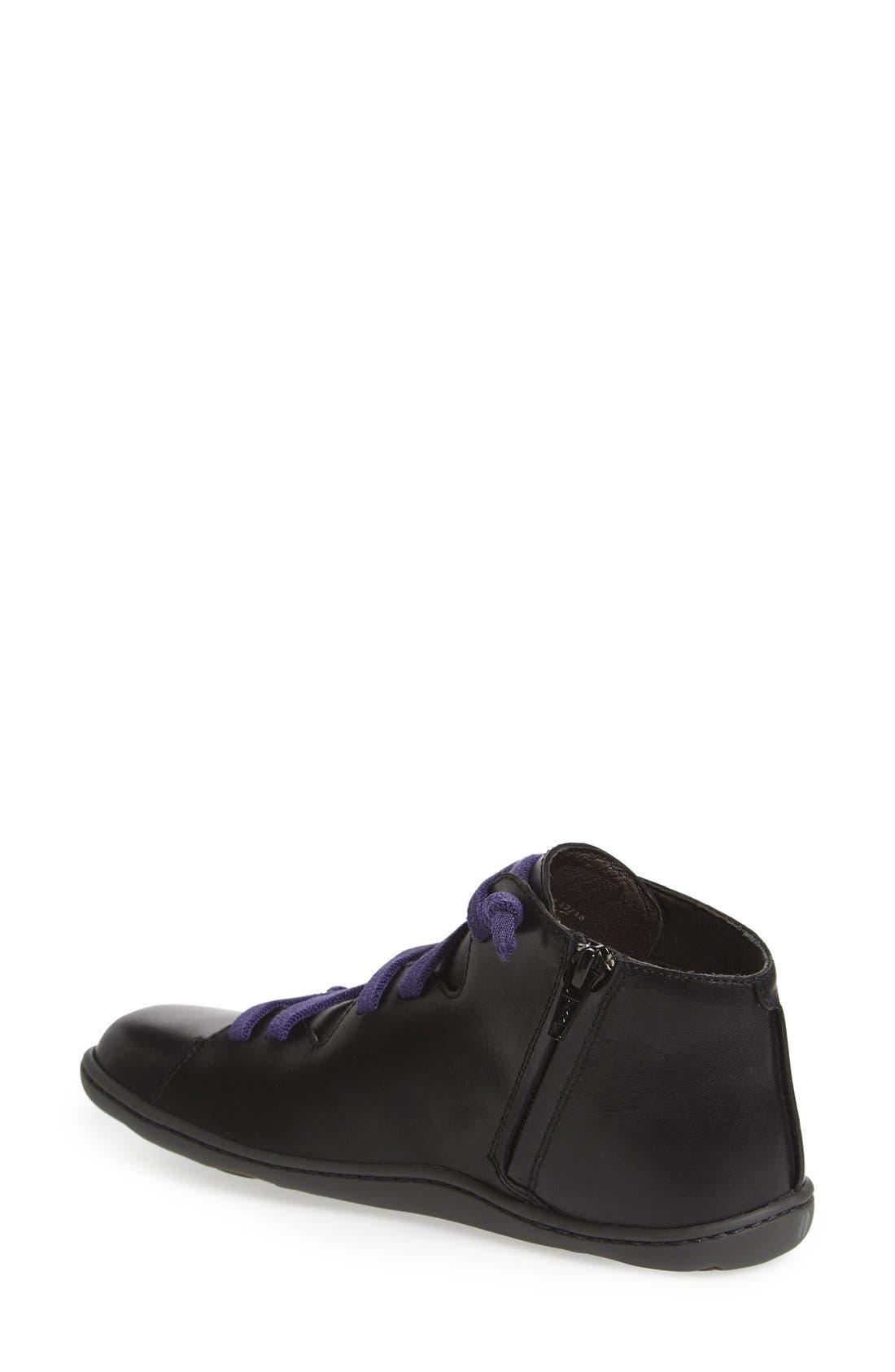 'Peu Cami' Mid Sneaker,                             Alternate thumbnail 2, color,                             BLACK LEATHER
