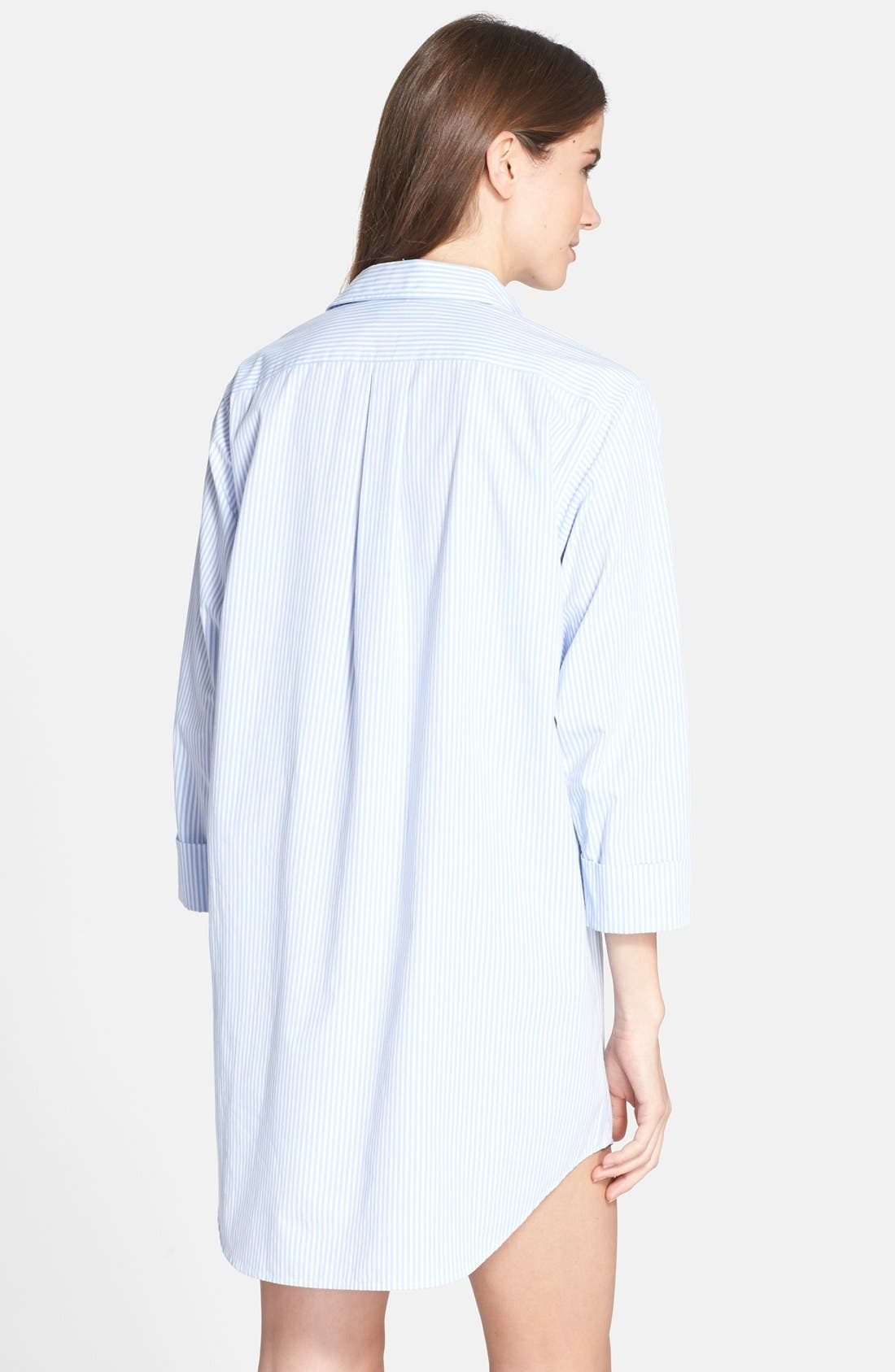 Cotton Poplin Sleep Shirt,                             Alternate thumbnail 15, color,