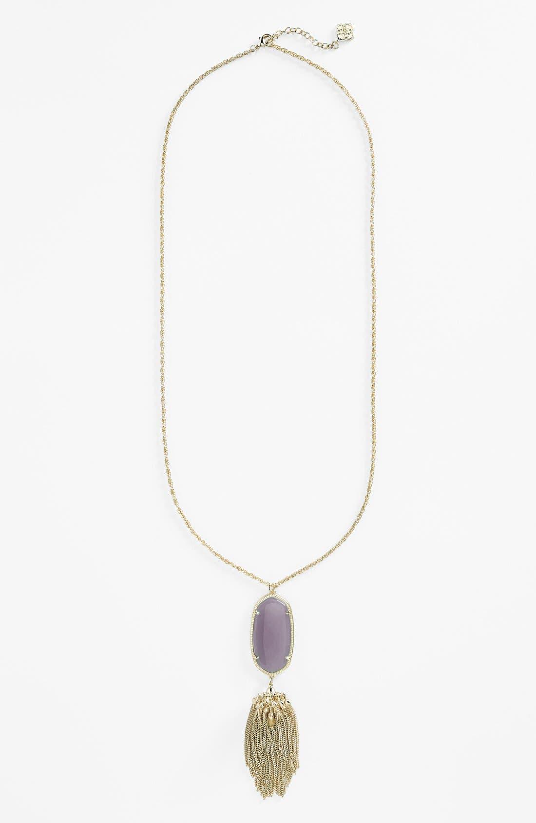 Rayne Stone Tassel Pendant Necklace,                             Alternate thumbnail 105, color,