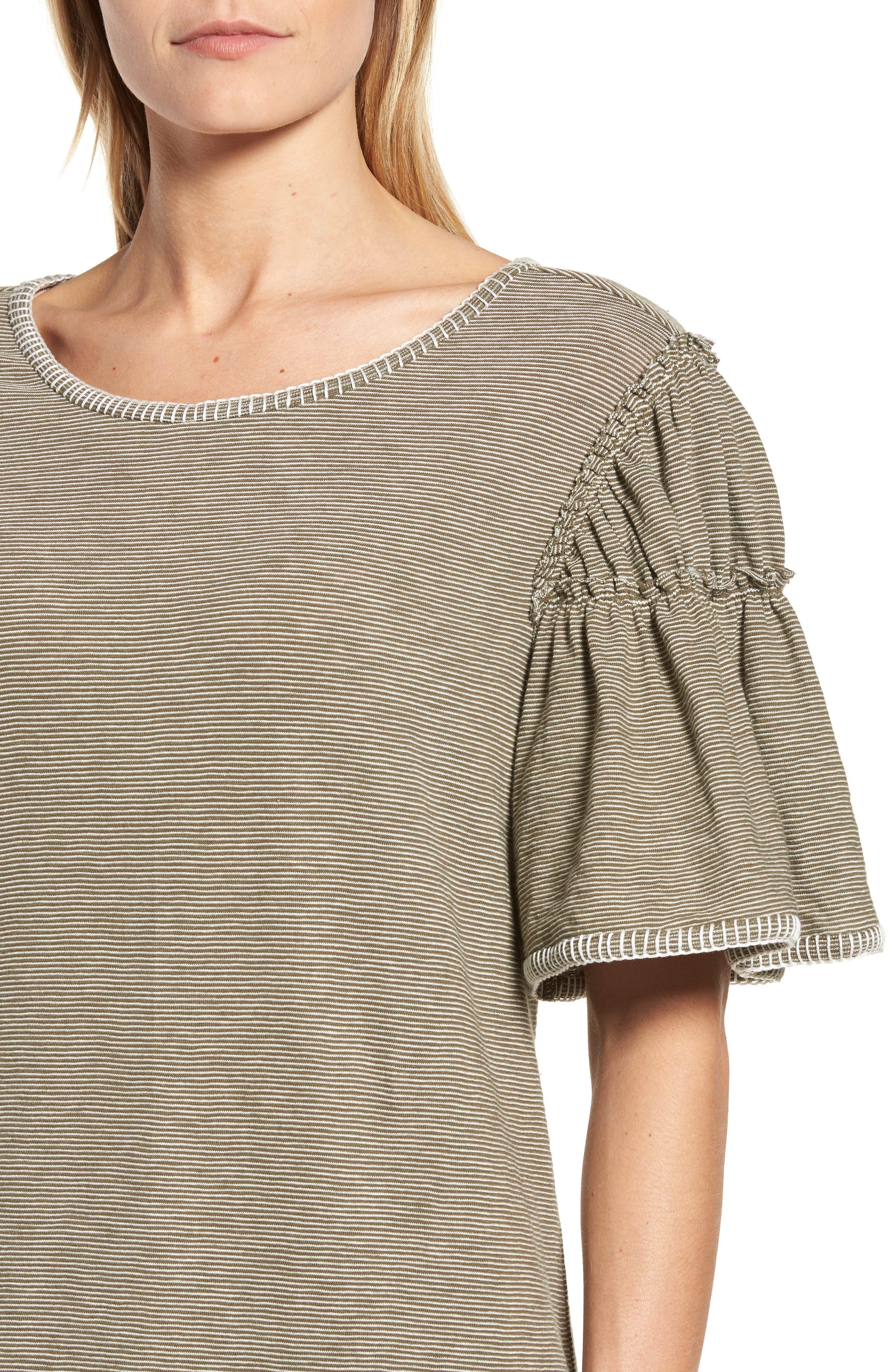 Flounce Sleeve Knit Dress,                             Alternate thumbnail 8, color,