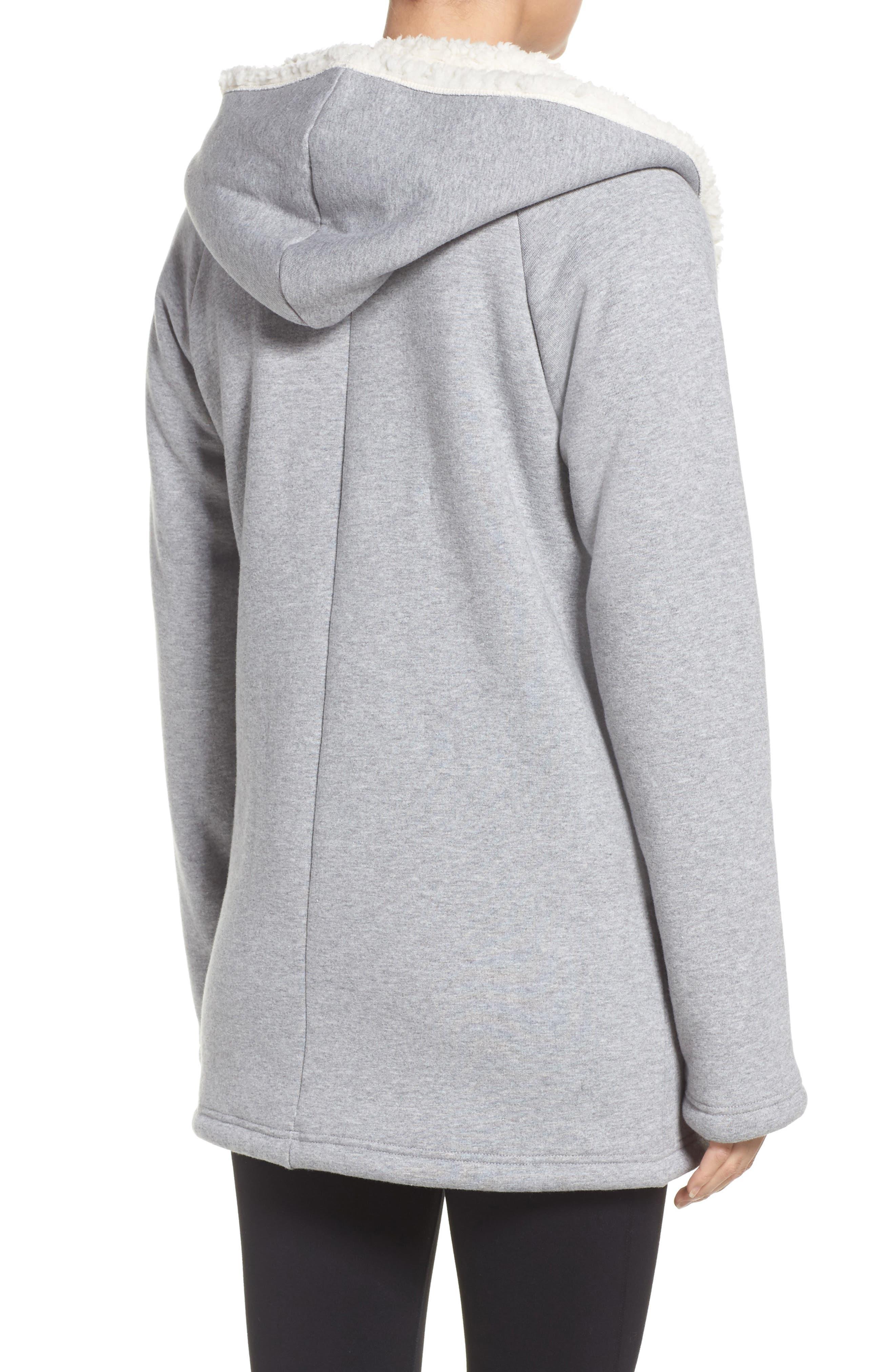Chalet Fleece Lined Hooded Wrap,                             Alternate thumbnail 2, color,                             030