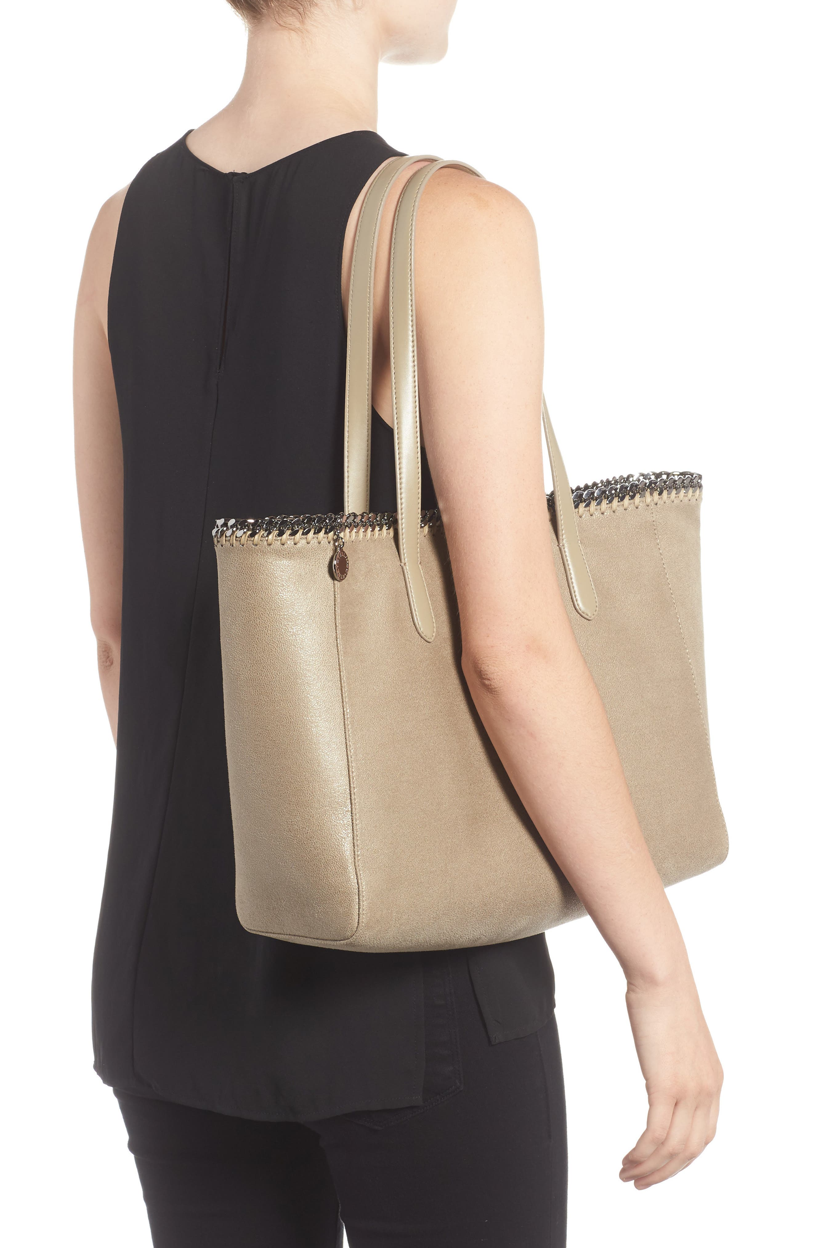 'Falabella - Shaggy Deer' Faux Leather Tote,                             Alternate thumbnail 7, color,