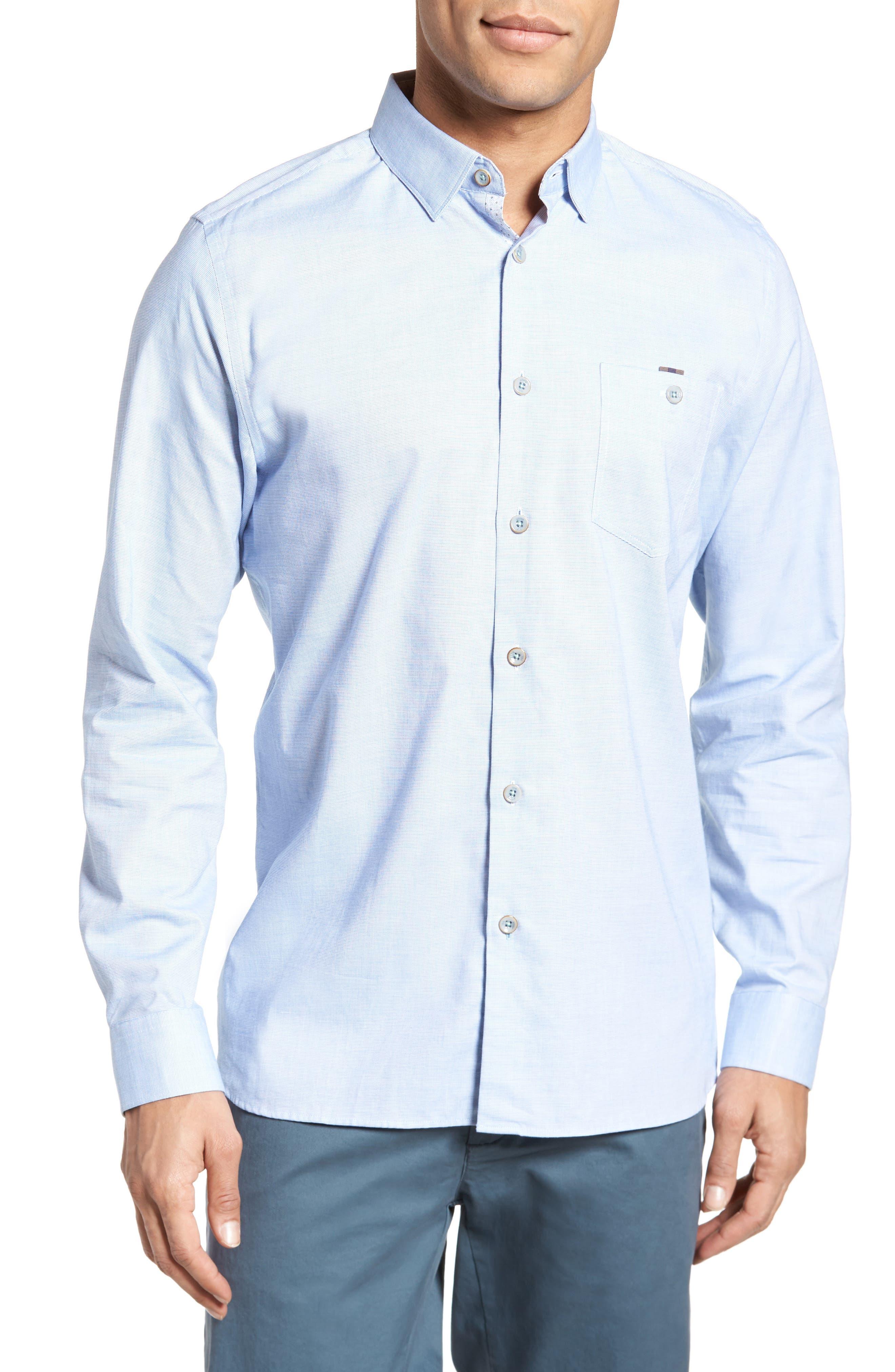 Slim Fit Textured Sport Shirt,                             Main thumbnail 3, color,