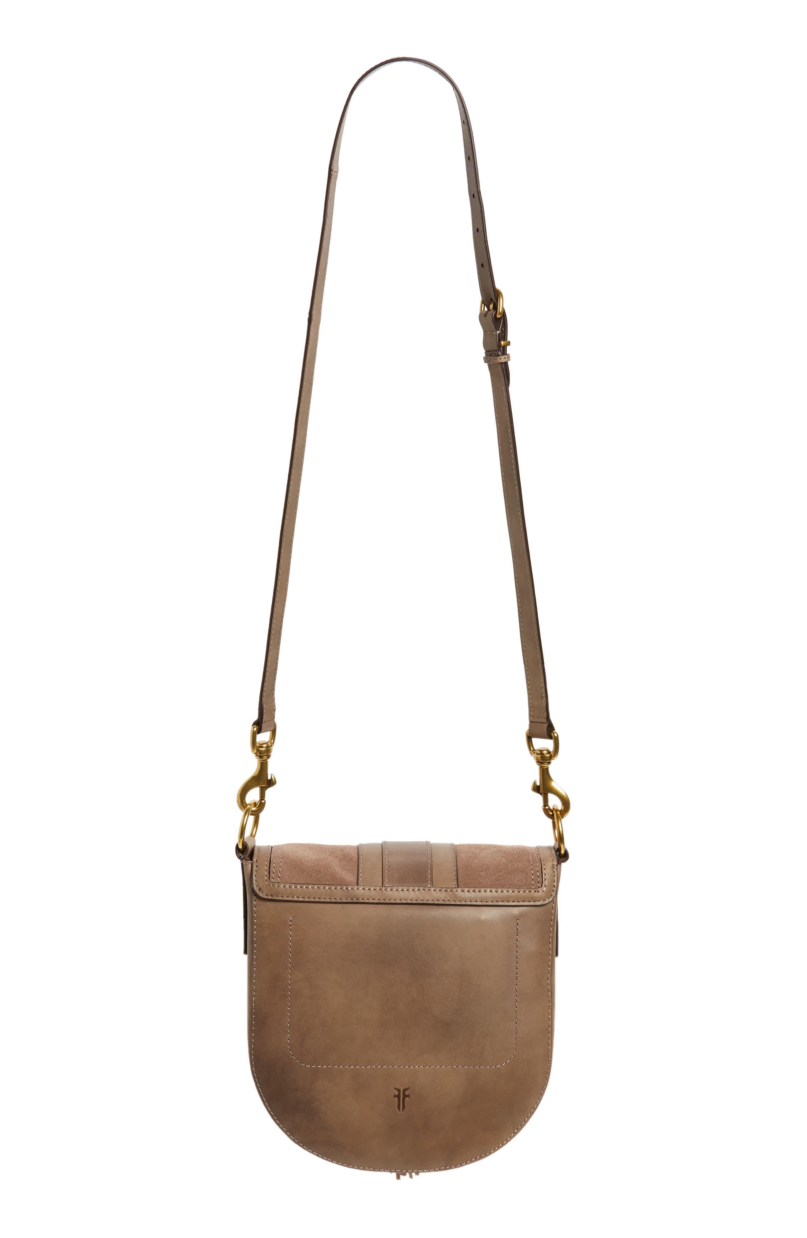 Small Ilana Harness Leather Saddle Bag,                             Alternate thumbnail 3, color,                             040