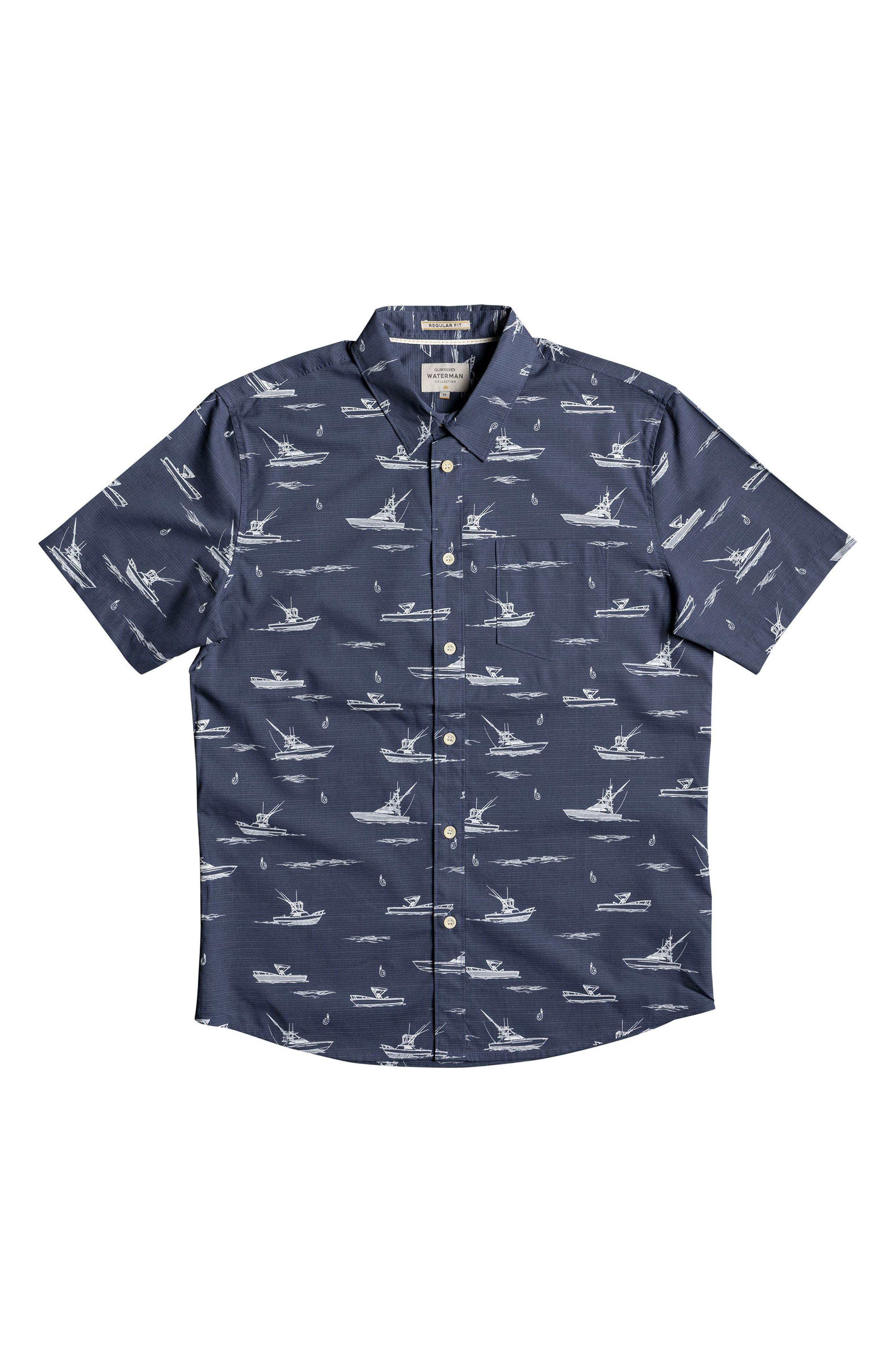 Fishboats Sport Shirt,                             Alternate thumbnail 7, color,