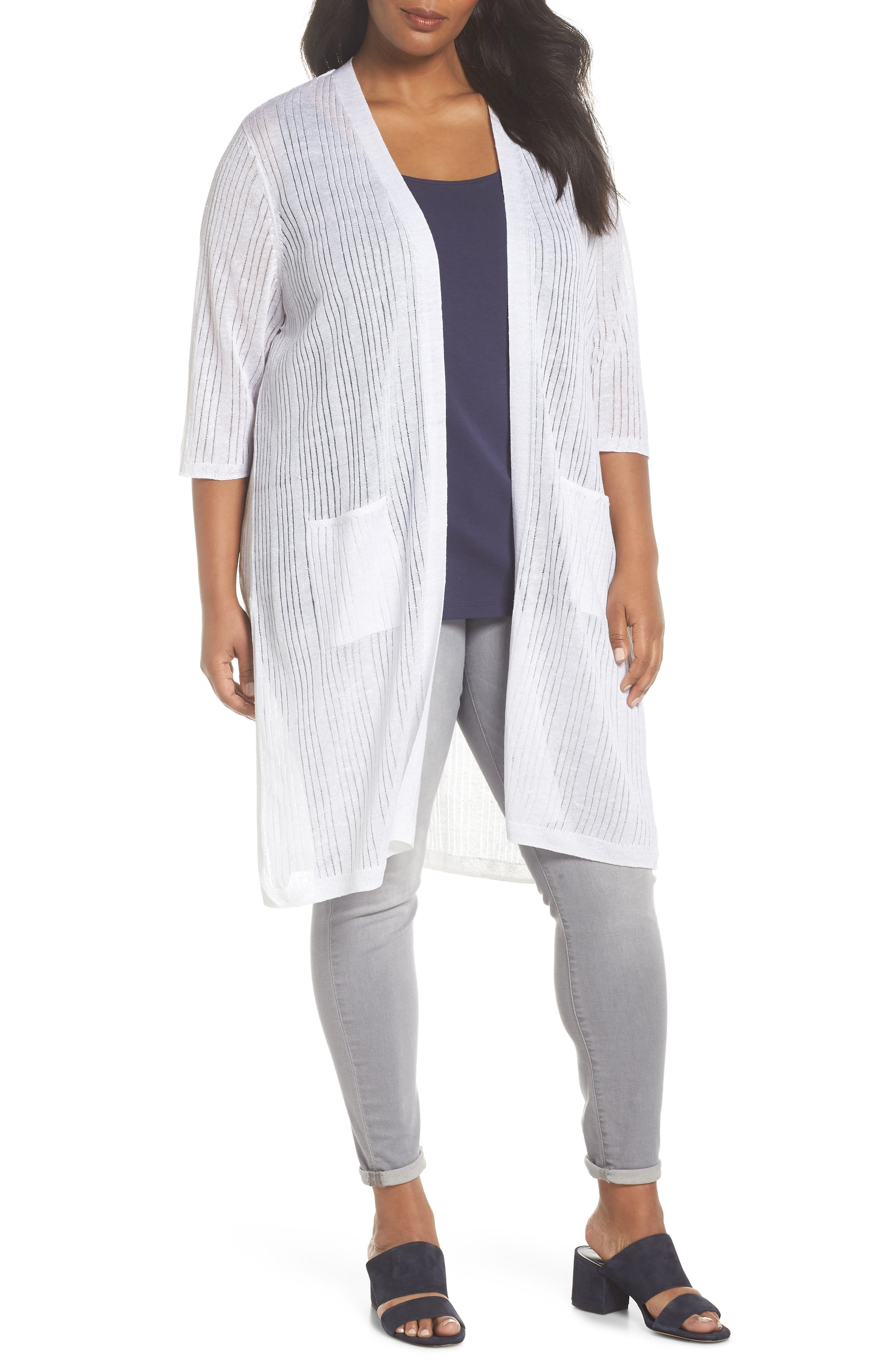 Long Nights Cardigan,                         Main,                         color, PAPER WHITE