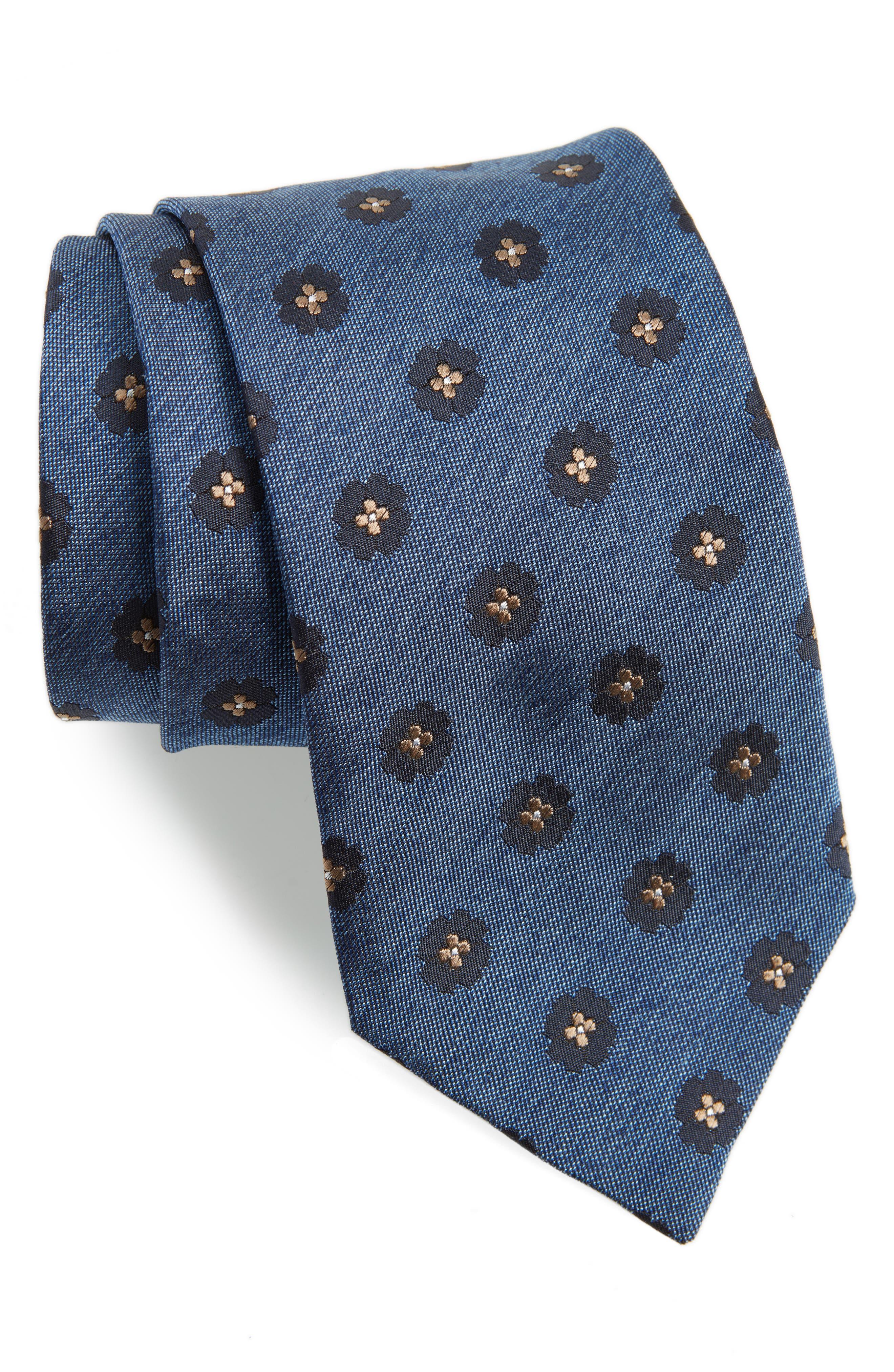 Medallion Silk Tie,                             Main thumbnail 1, color,                             423