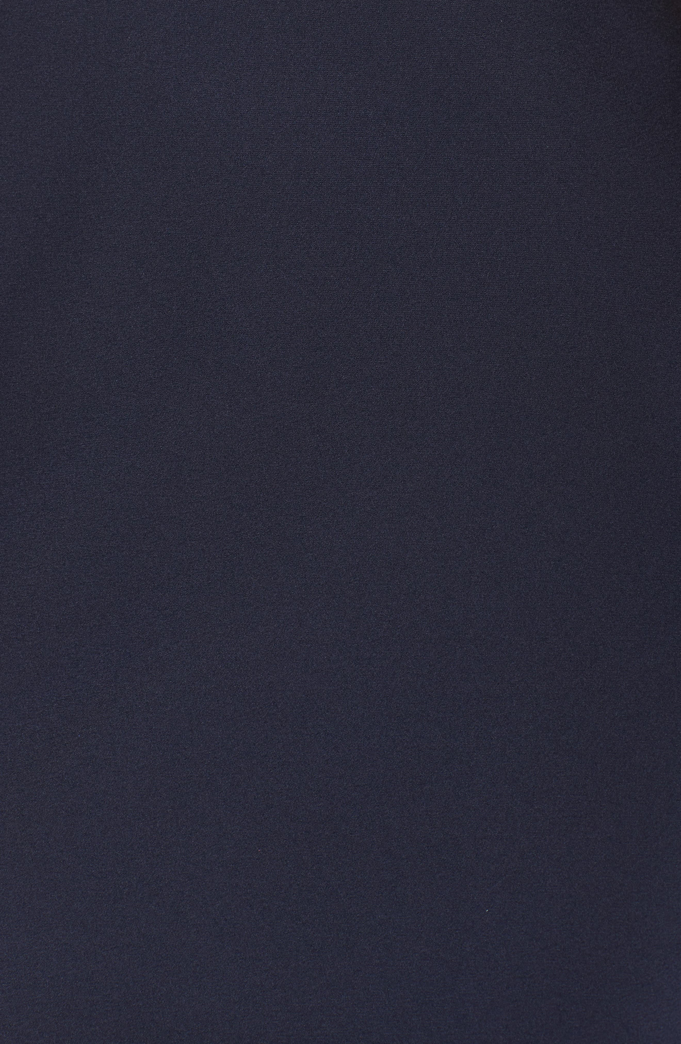 Cutout Detail Satin Gown,                             Alternate thumbnail 5, color,                             NAVY