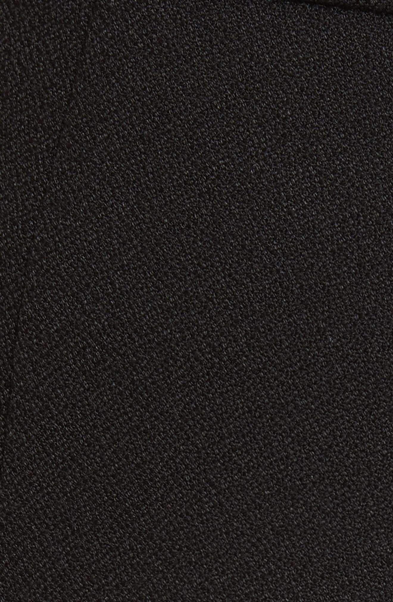 Alair Chain Detail Sailor Trousers,                             Alternate thumbnail 5, color,                             BLACK
