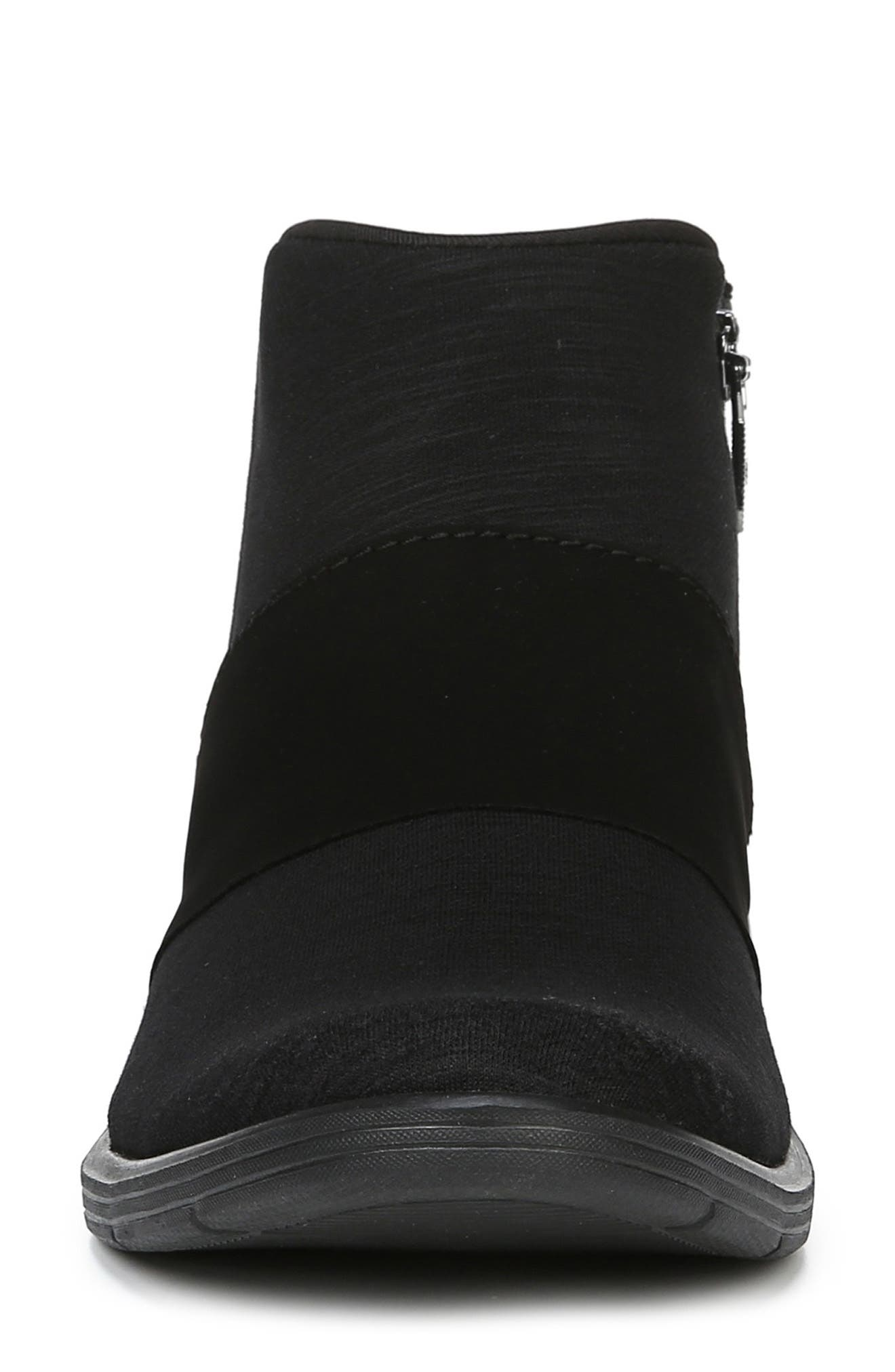 BZEES,                             Billie Bootie,                             Alternate thumbnail 4, color,                             BLACK THICK HEATHER FABRIC