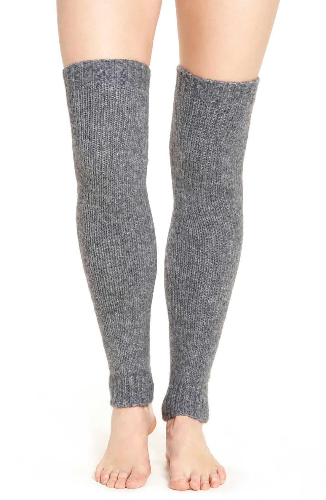 LEMON,                             Powdered Wool Blend Leg Warmers,                             Main thumbnail 1, color,                             069
