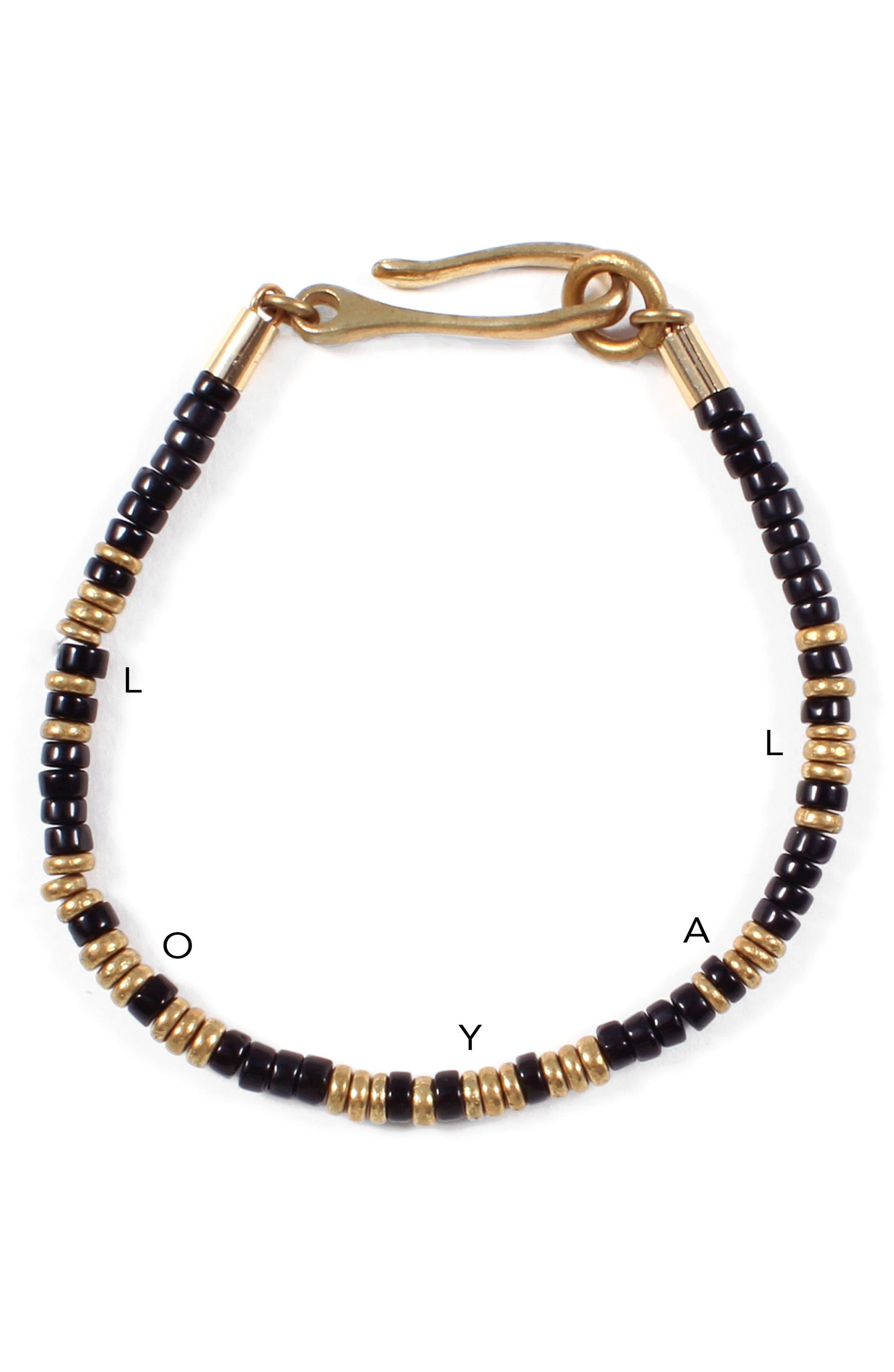 Loyal Morse Beaded Bracelet,                             Alternate thumbnail 2, color,                             001
