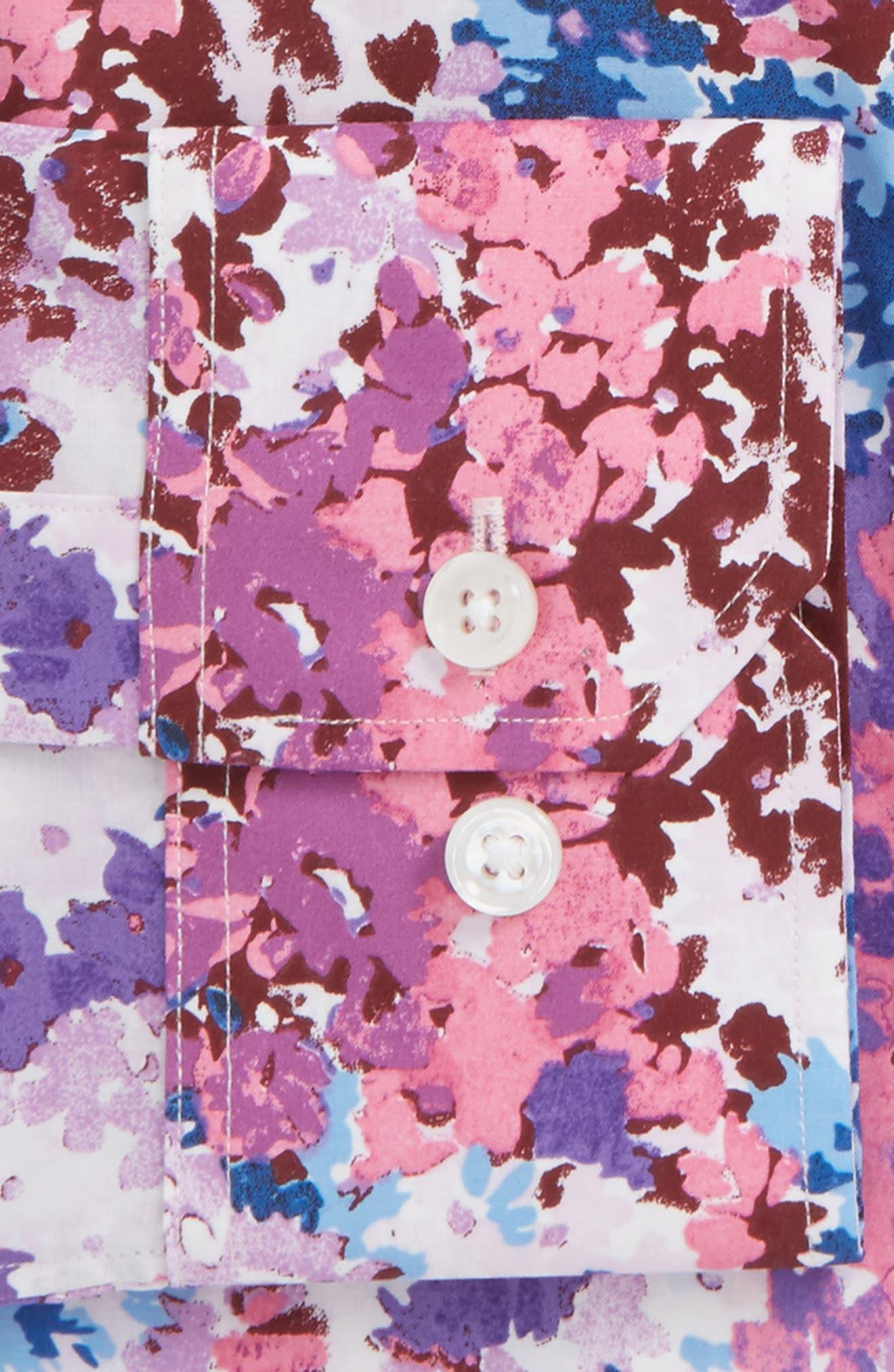 Jetsetter Slim Fit Floral Dress Shirt,                             Alternate thumbnail 2, color,                             650