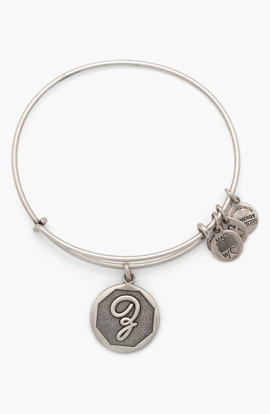 'Initial' Adjustable Wire Bangle,                             Main thumbnail 26, color,