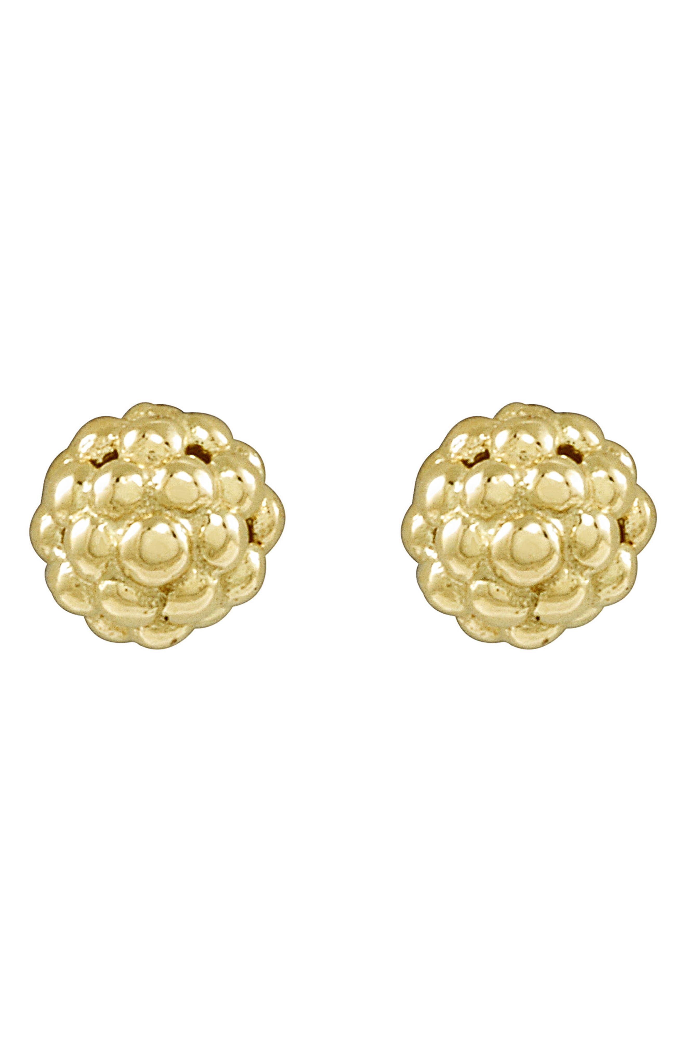 'Caviar Icon' Stud Earrings,                             Alternate thumbnail 4, color,                             GOLD