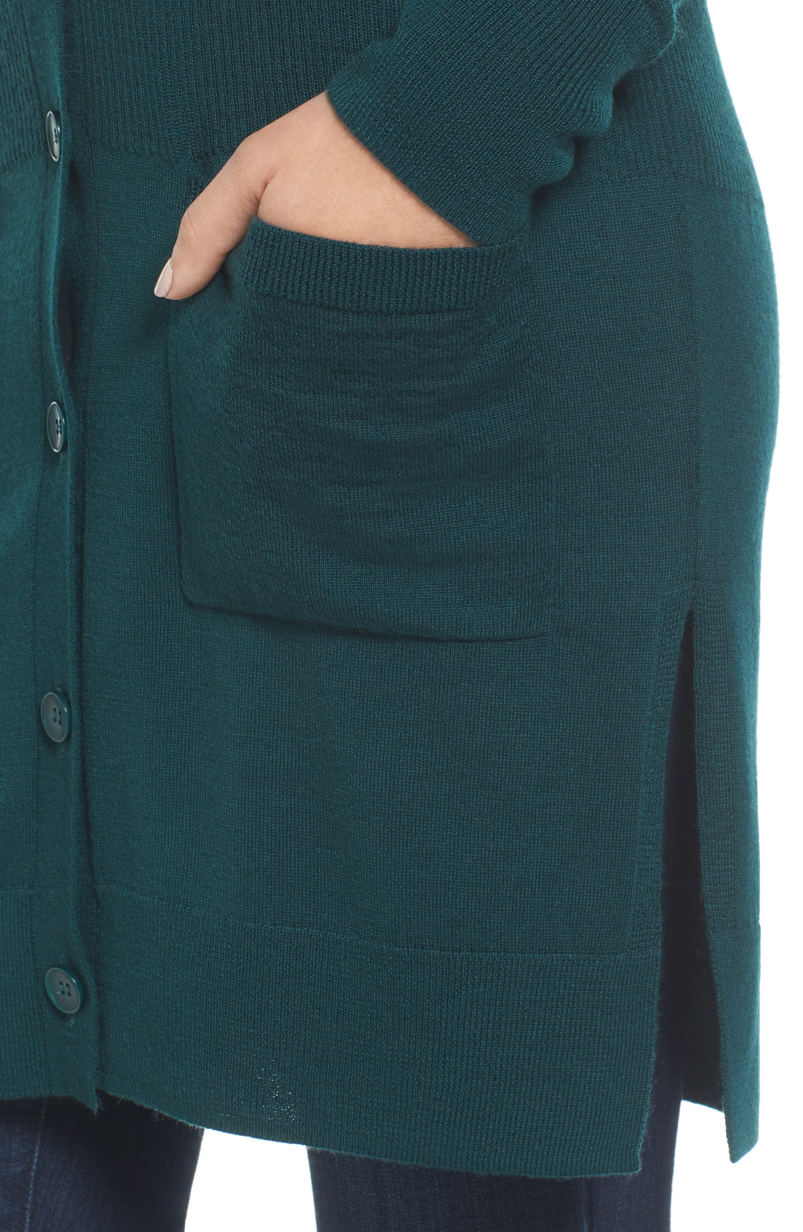 Rib Knit Wool Blend Cardigan,                             Alternate thumbnail 67, color,