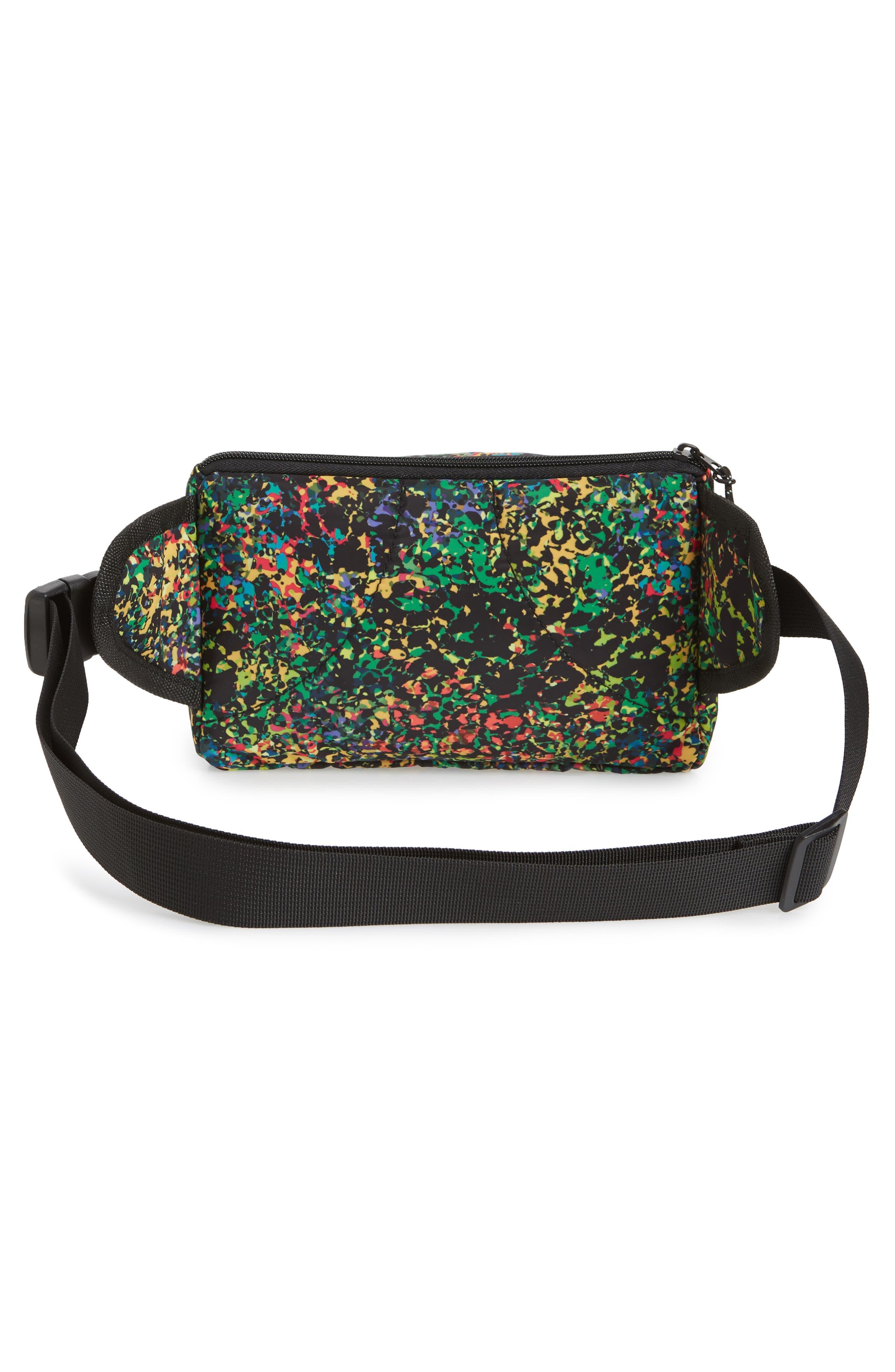 Sabre Crossbody Belt Bag,                             Alternate thumbnail 3, color,                             BLACK MULTI
