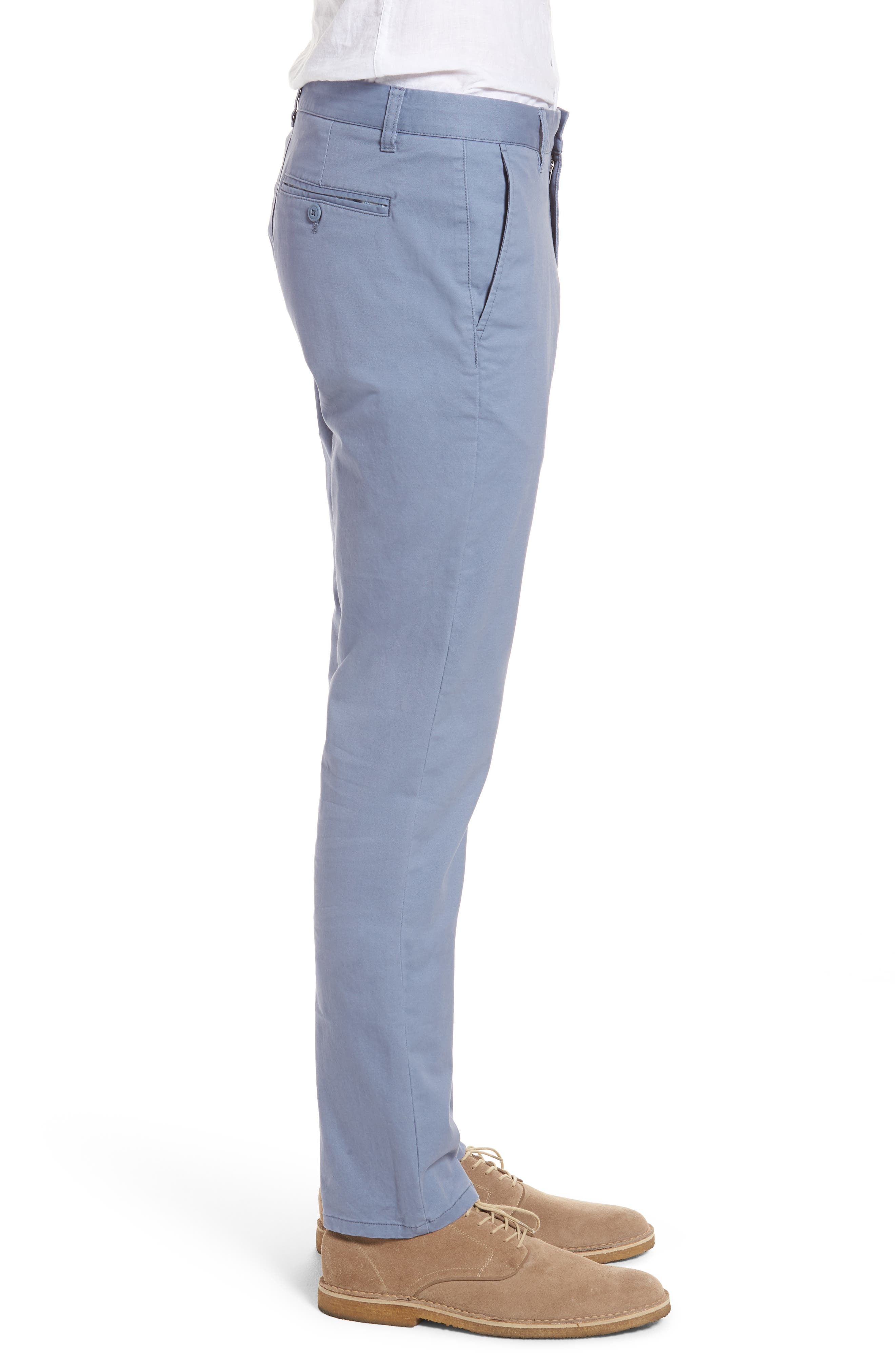 Tailored Fit Washed Stretch Cotton Chinos,                             Alternate thumbnail 88, color,