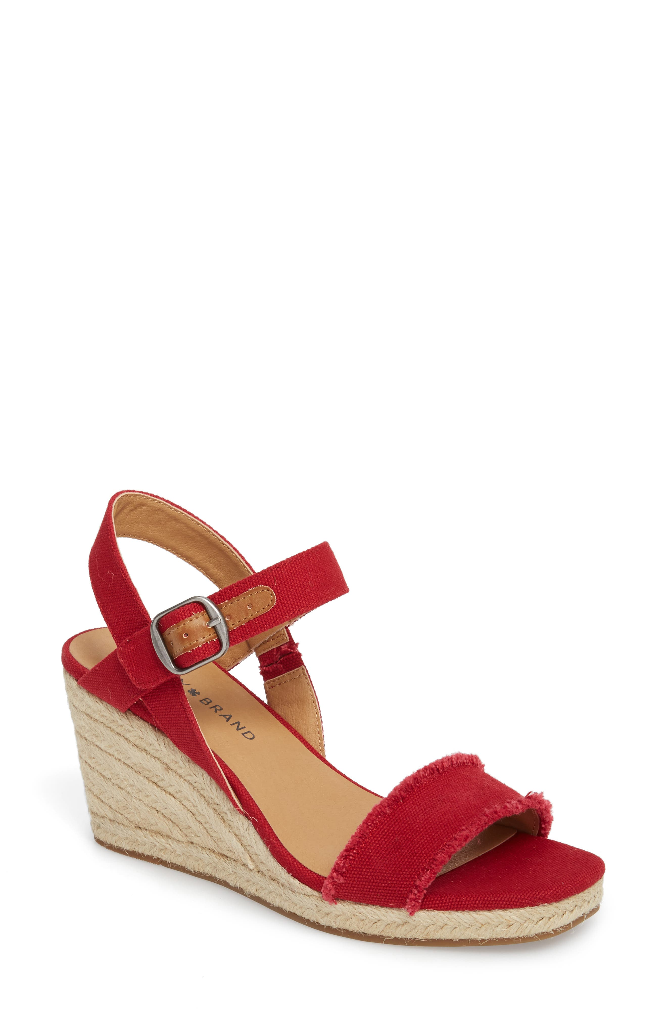 Marceline Squared Toe Wedge Sandal,                             Main thumbnail 7, color,