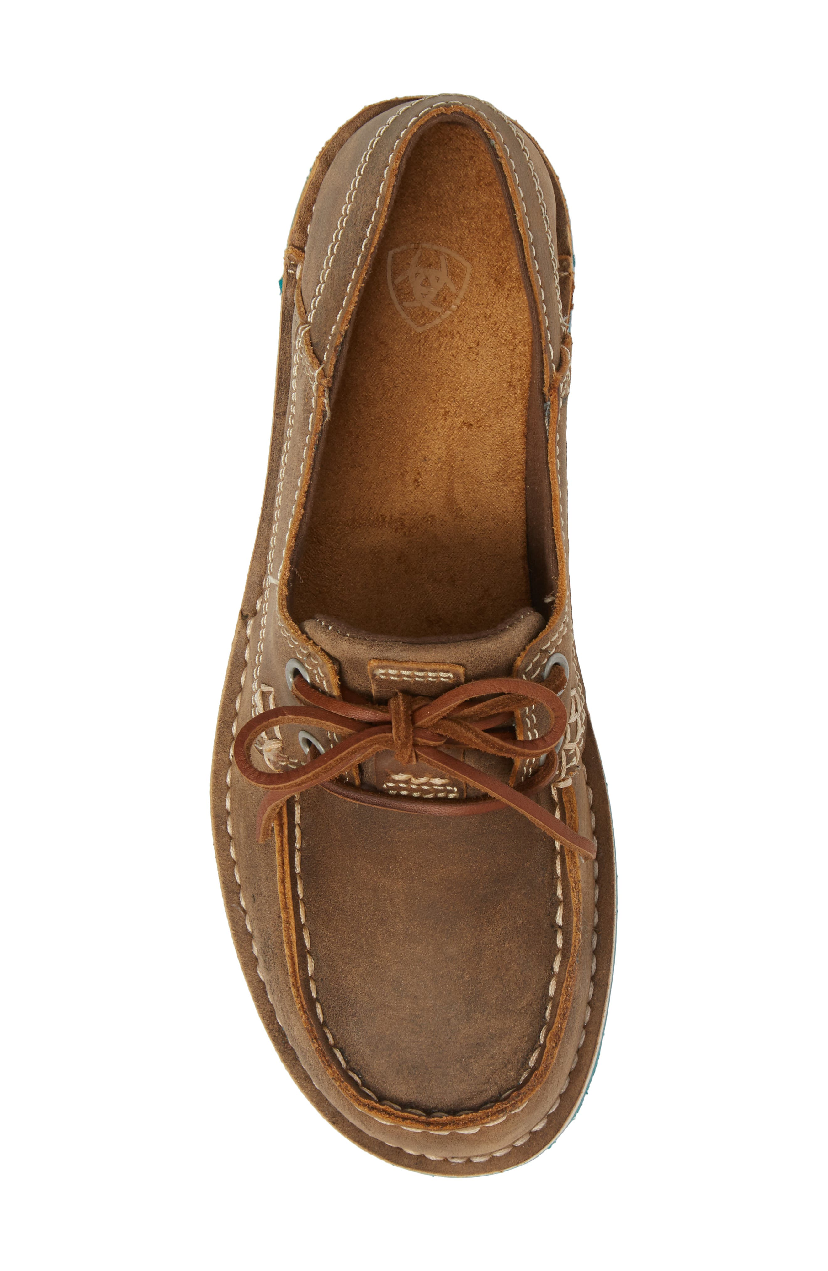 ARIAT,                             Cruiser Castaway Loafer,                             Alternate thumbnail 5, color,                             BROWN BOMBER LEATHER