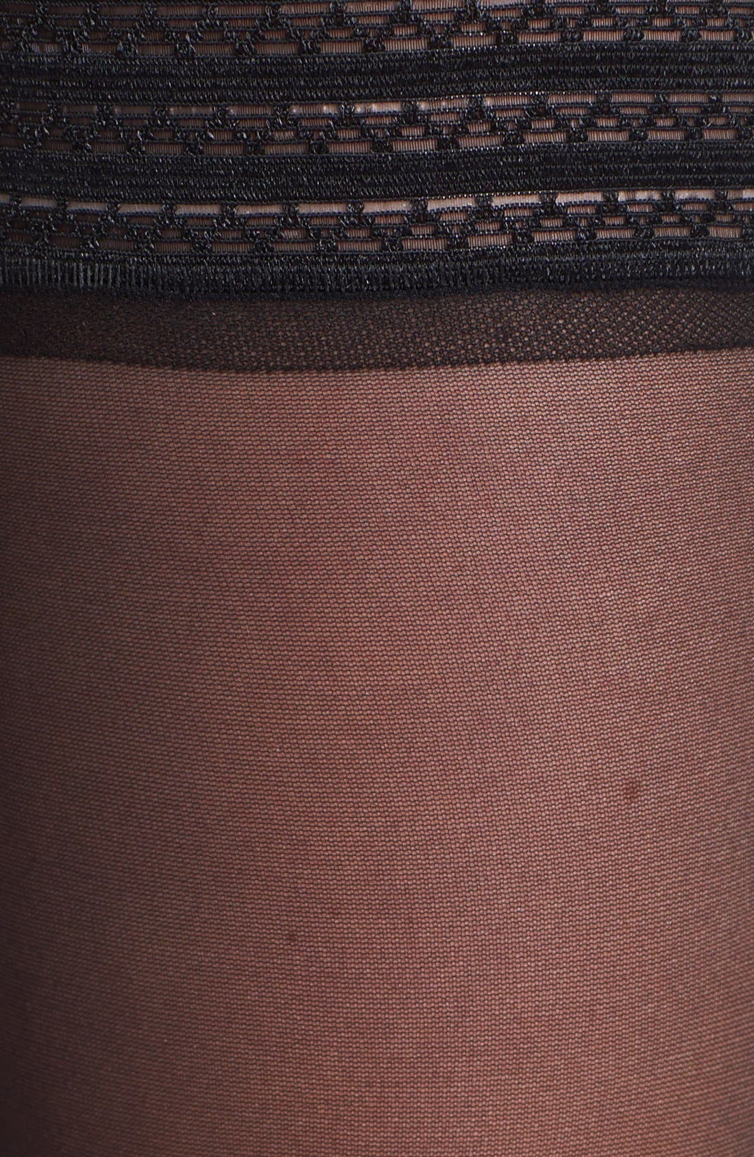 Sheer Thigh High Stay-Up Stockings,                             Alternate thumbnail 3, color,                             BLACK