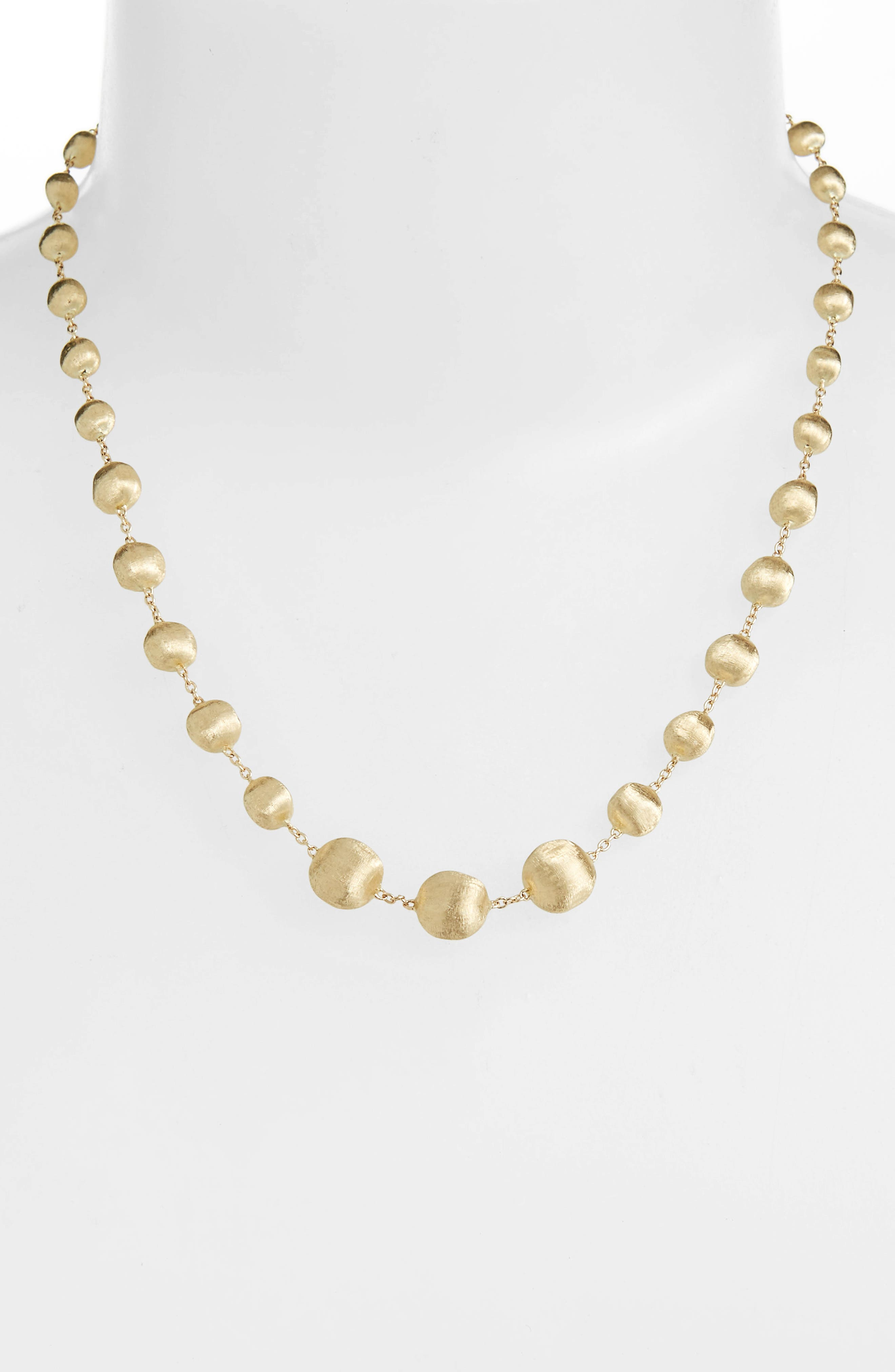 Africa Semiprecious Stone Long Strand Necklace,                             Alternate thumbnail 5, color,                             YELLOW GOLD