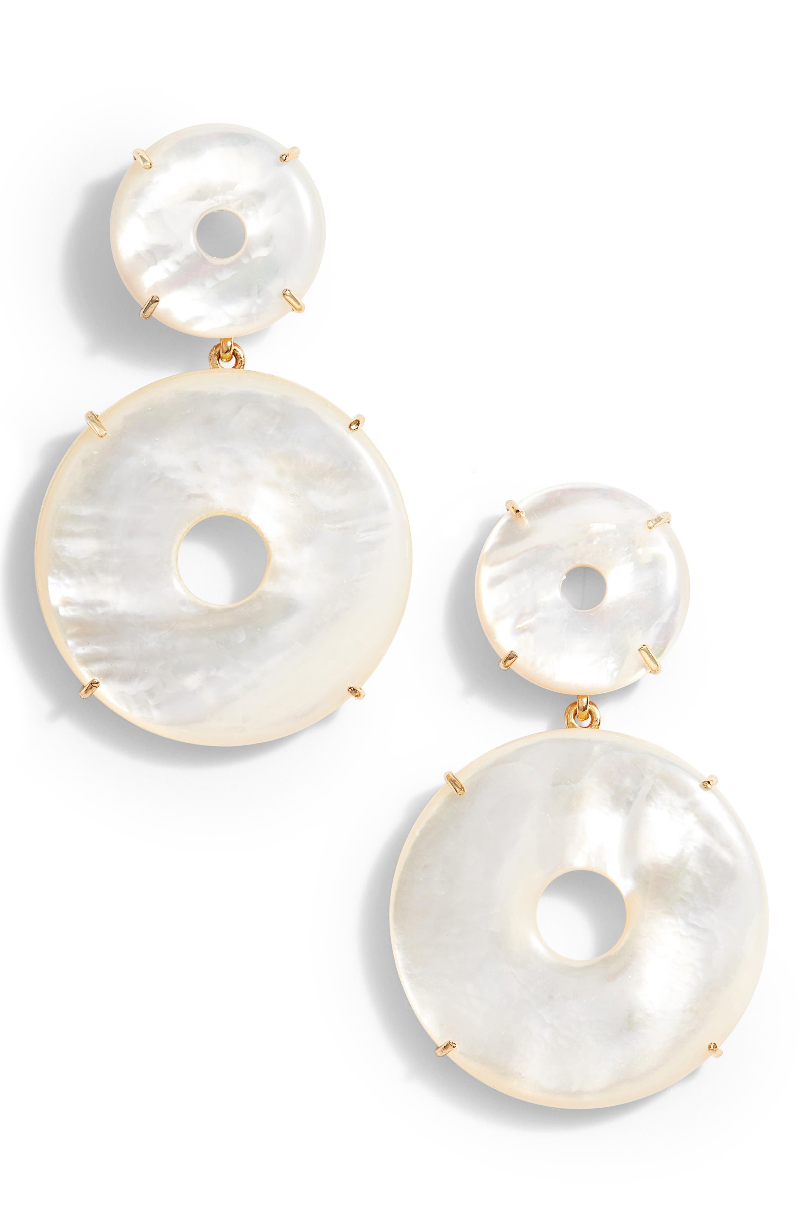ASHA Elizabeth Mother-of-Pearl Drop Earrings, Main, color, MOTHER OF PEARL