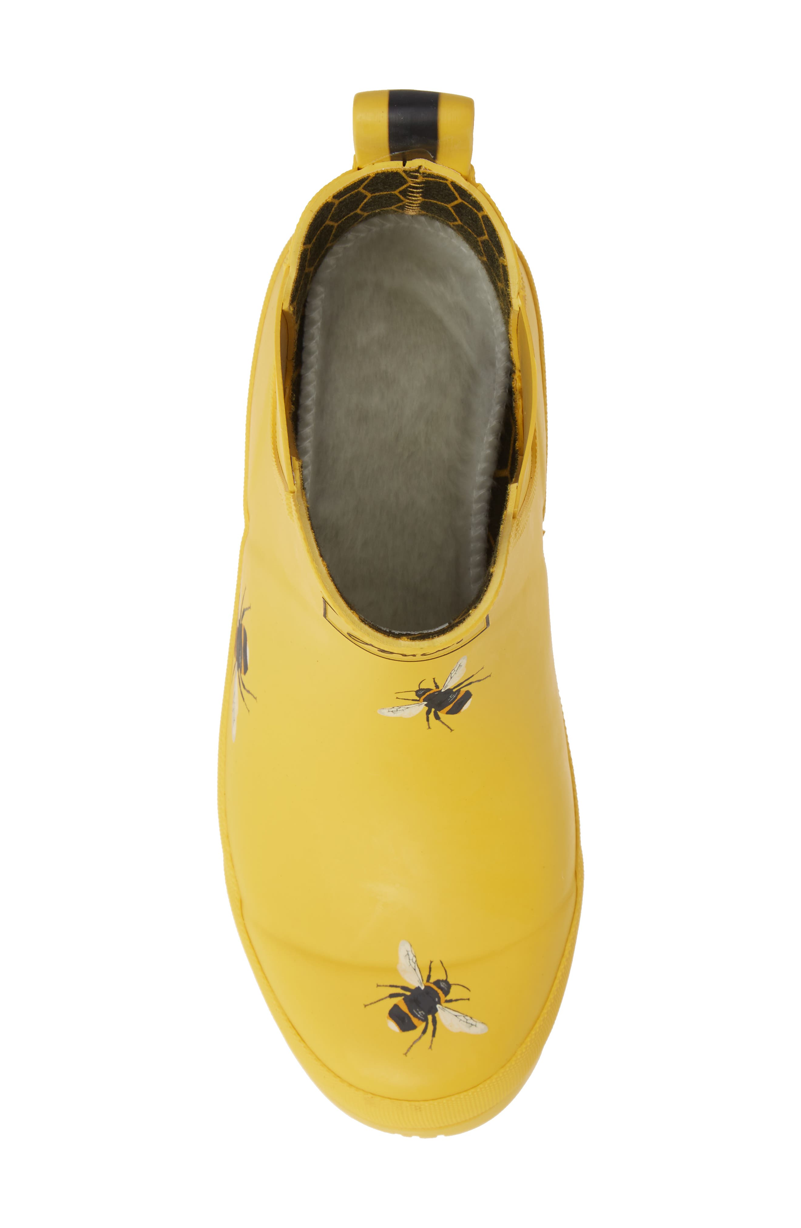 Wellibob Short Rain Boot,                             Alternate thumbnail 5, color,                             GOLD BOTANICAL BEES