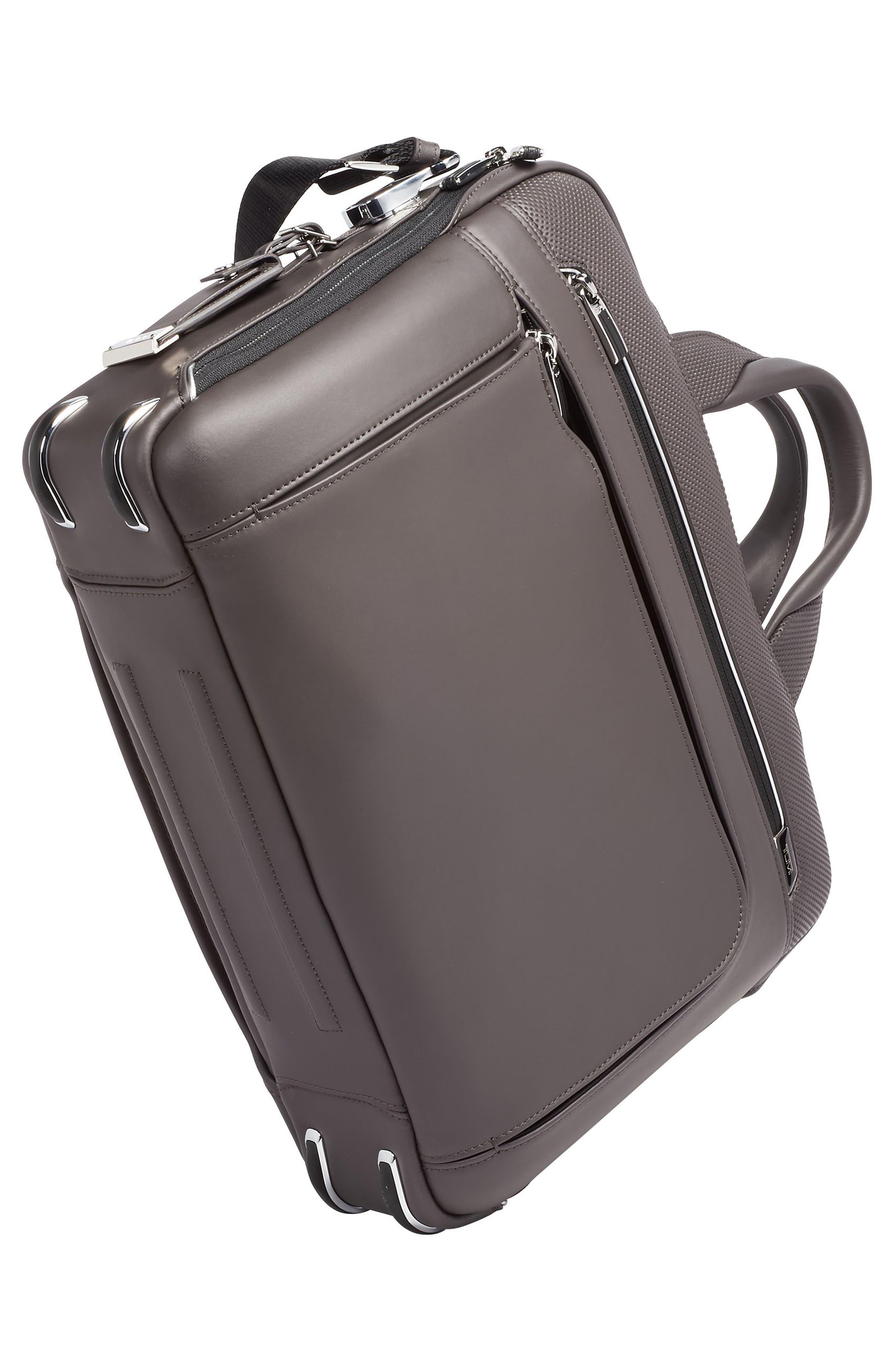 Arrivé - Sawyer Leather Briefcase,                             Alternate thumbnail 5, color,                             TAUPE