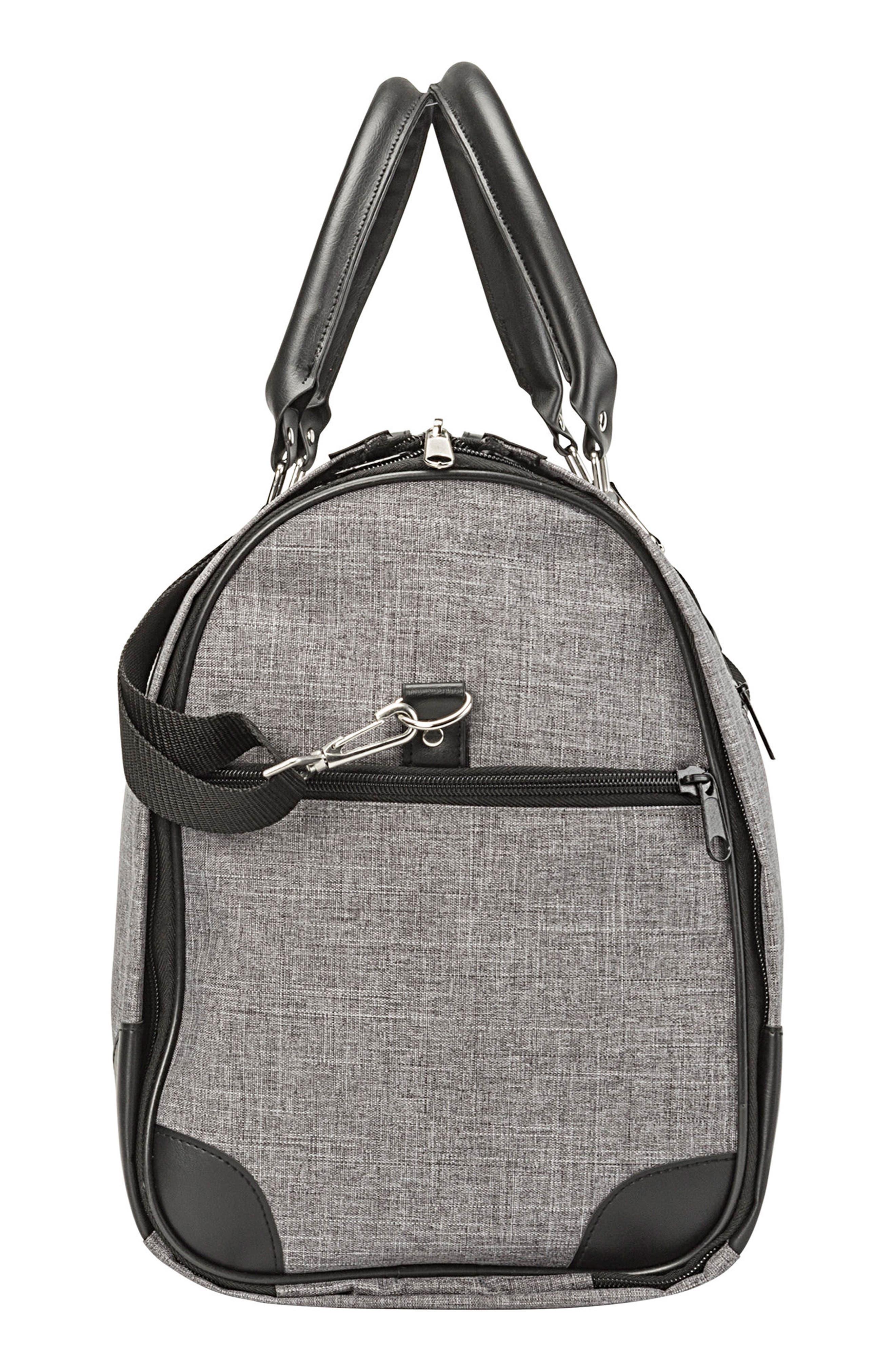 Monogram Duffel/Garment Bag,                             Alternate thumbnail 3, color,                             GREY A
