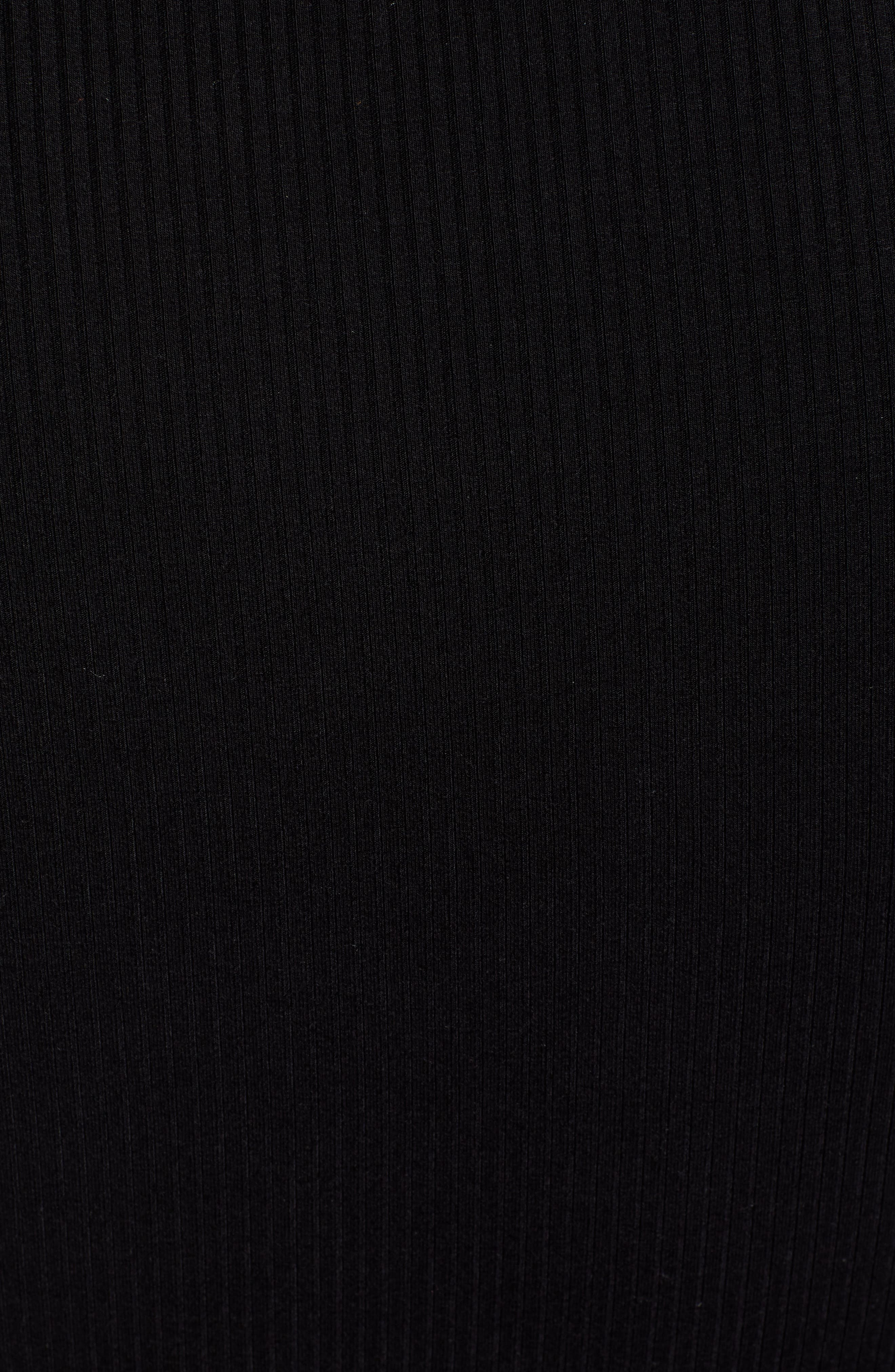 AFRM,                             Brigitte Long Sleeve Ribbed Bodysuit,                             Alternate thumbnail 5, color,                             NOIR