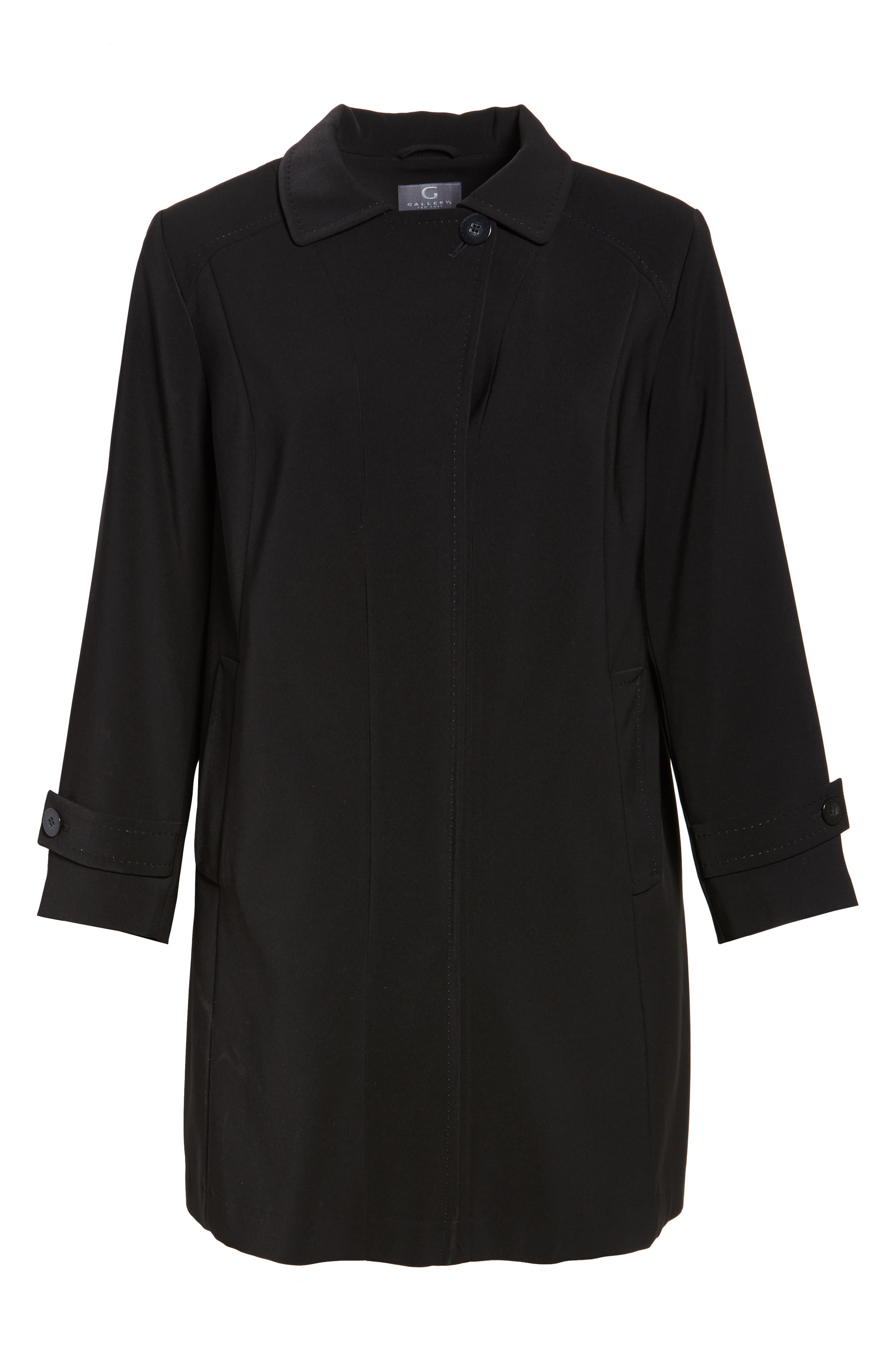 A-Line Raincoat with Detachable Hood & Liner,                             Alternate thumbnail 5, color,                             001