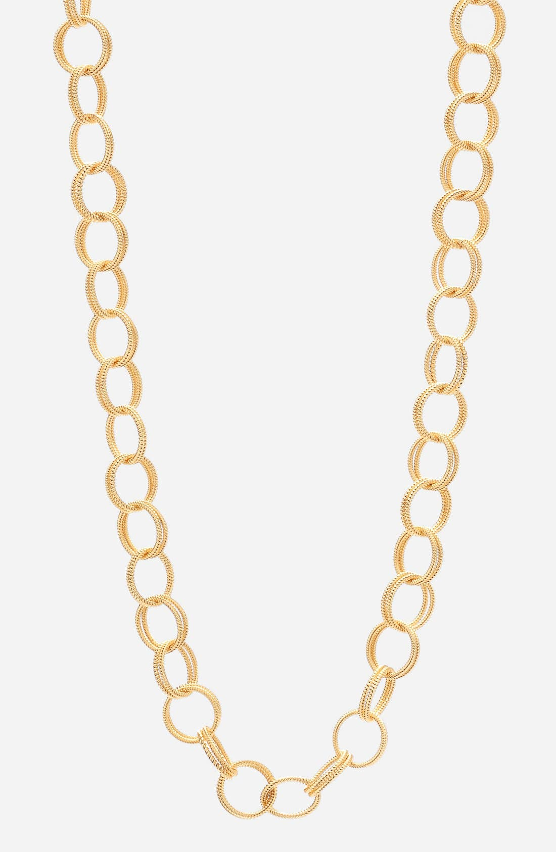 Textured Chain Link Necklace,                             Main thumbnail 1, color,                             710