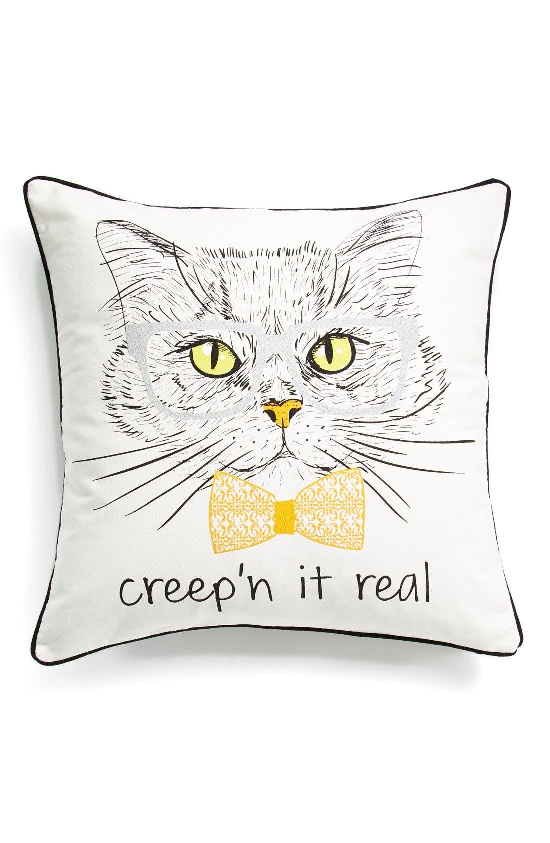 'Creep'n It Real' Pillow, Main, color, 250