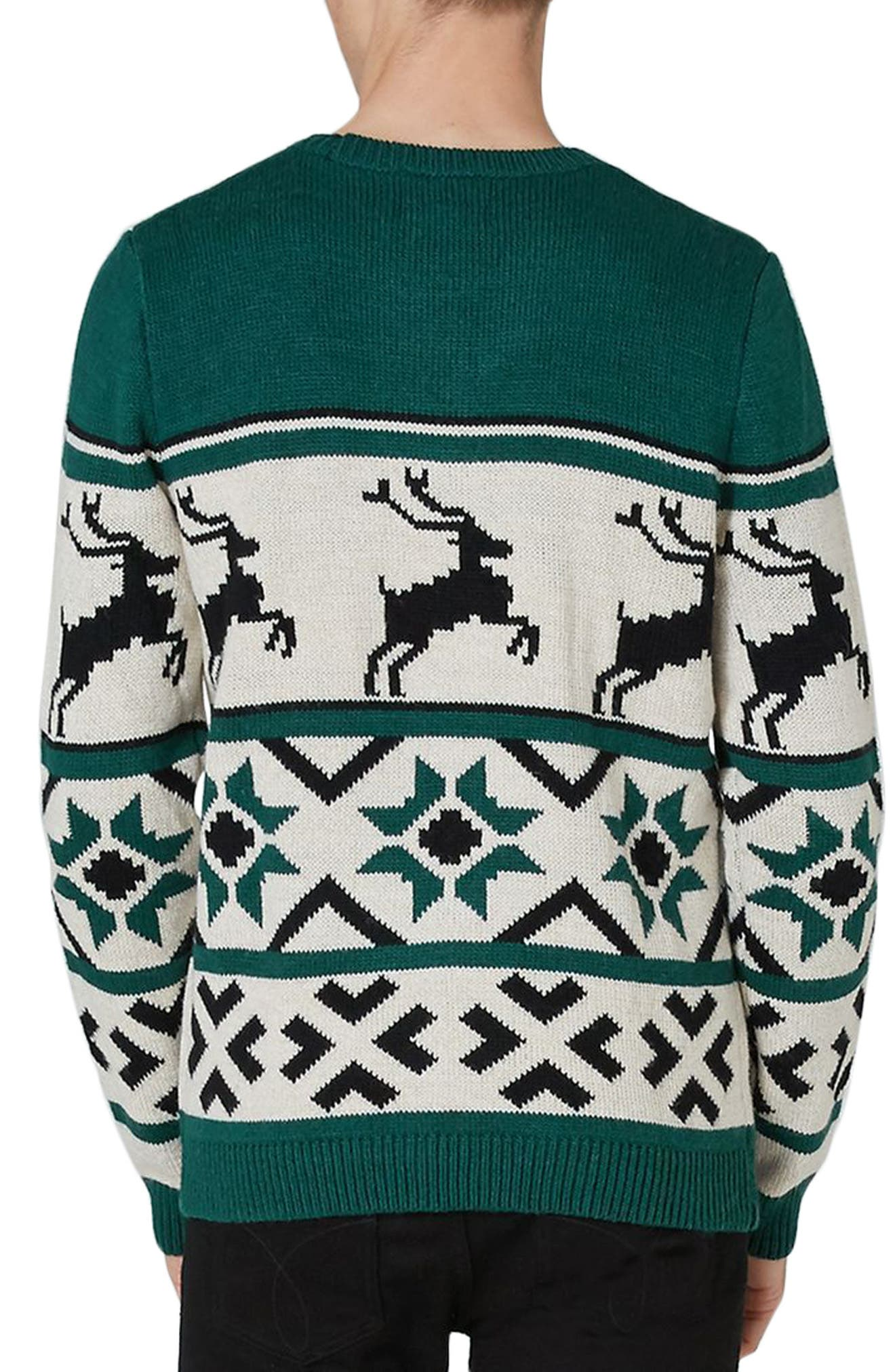 Fair Isle Reindeer Sweater,                             Alternate thumbnail 2, color,                             300
