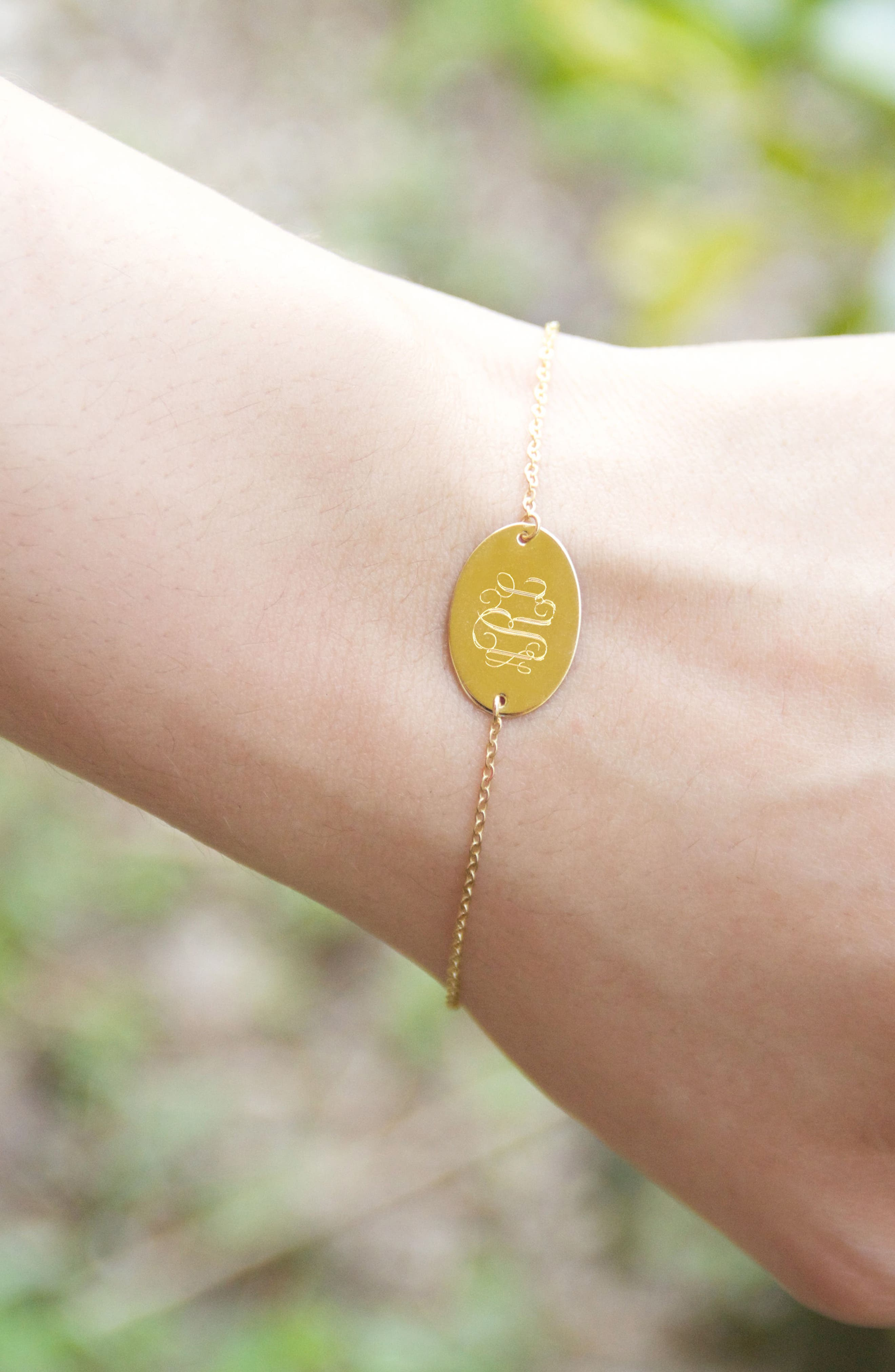 Jane Basch Monogram Bracelet,                             Alternate thumbnail 2, color,                             710